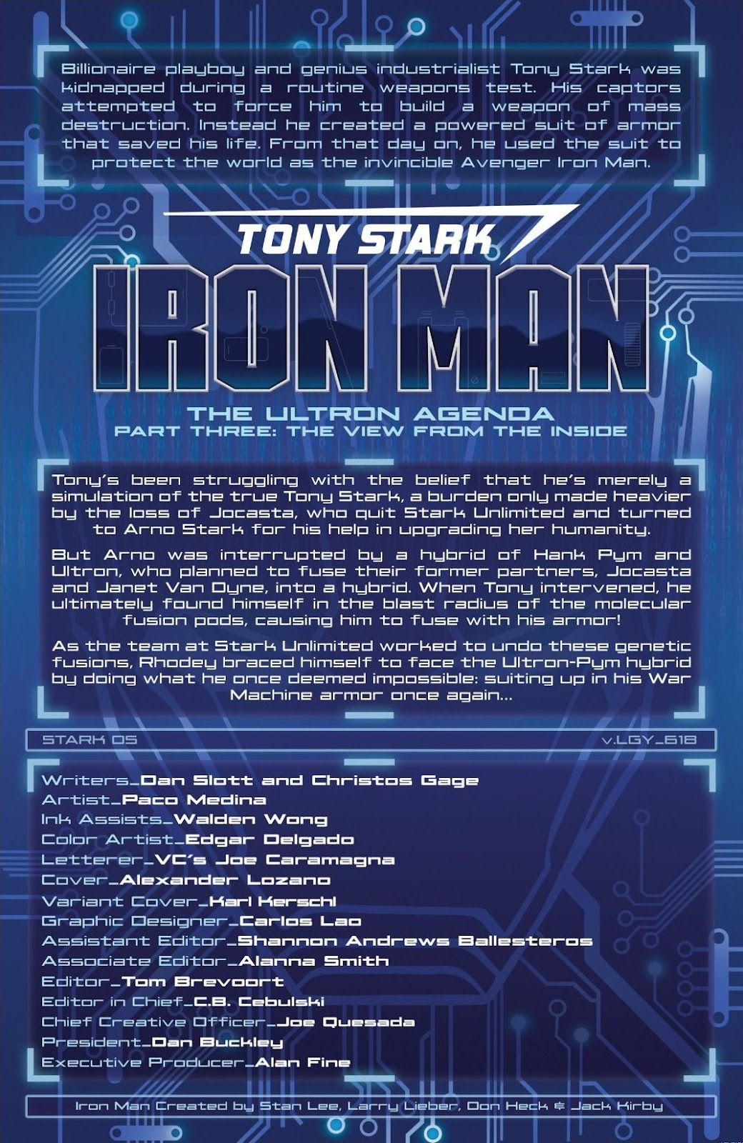 Read online Tony Stark: Iron Man comic -  Issue #18 - 2