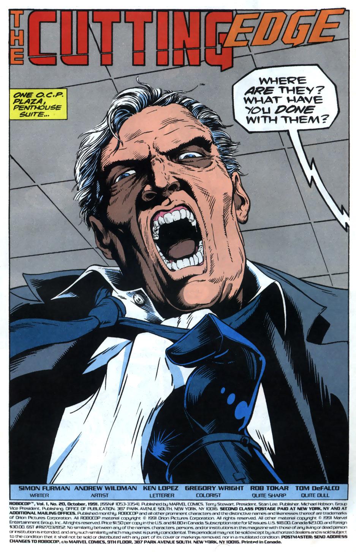 Read online Robocop (1990) comic -  Issue #20 - 2
