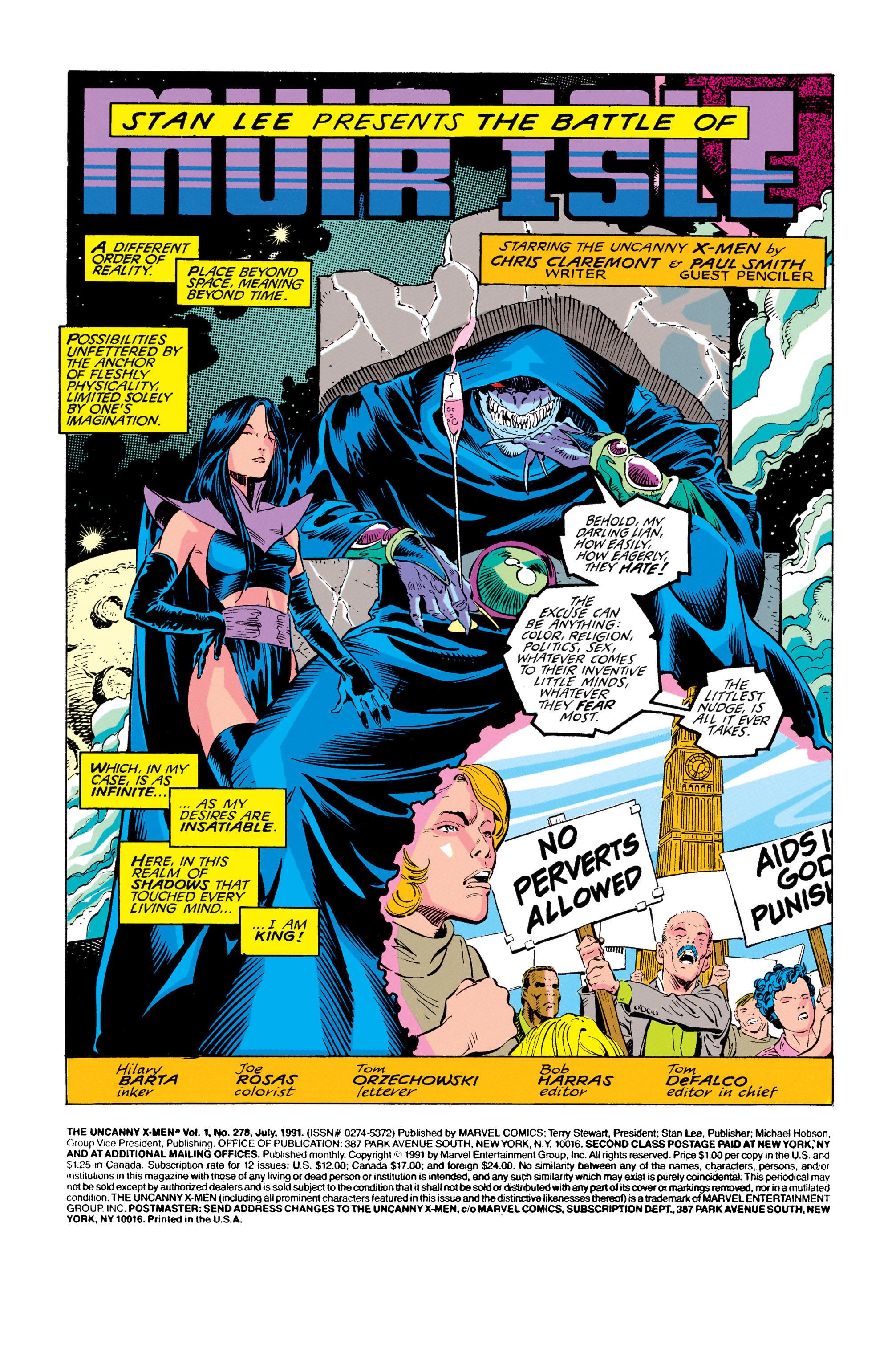 Read online Uncanny X-Men (1963) comic -  Issue #278 - 2