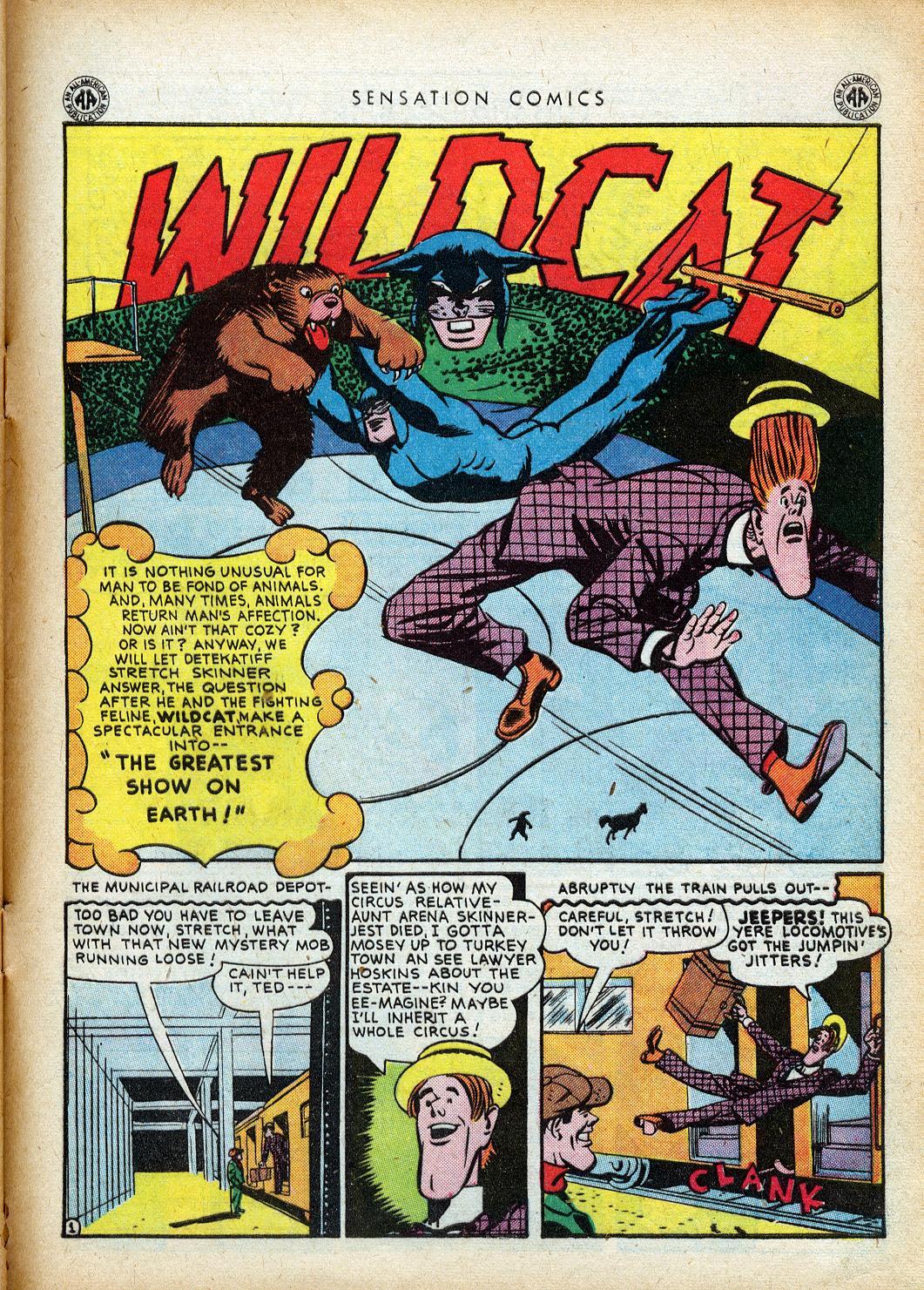 Read online Sensation (Mystery) Comics comic -  Issue #40 - 43