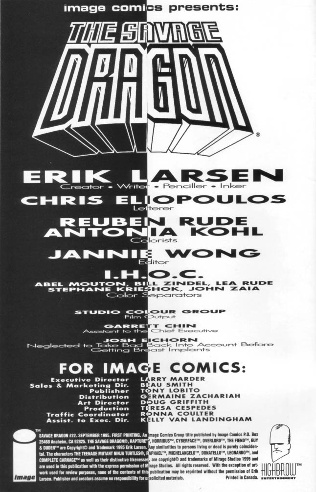 The Savage Dragon (1993) Issue #22 #25 - English 3