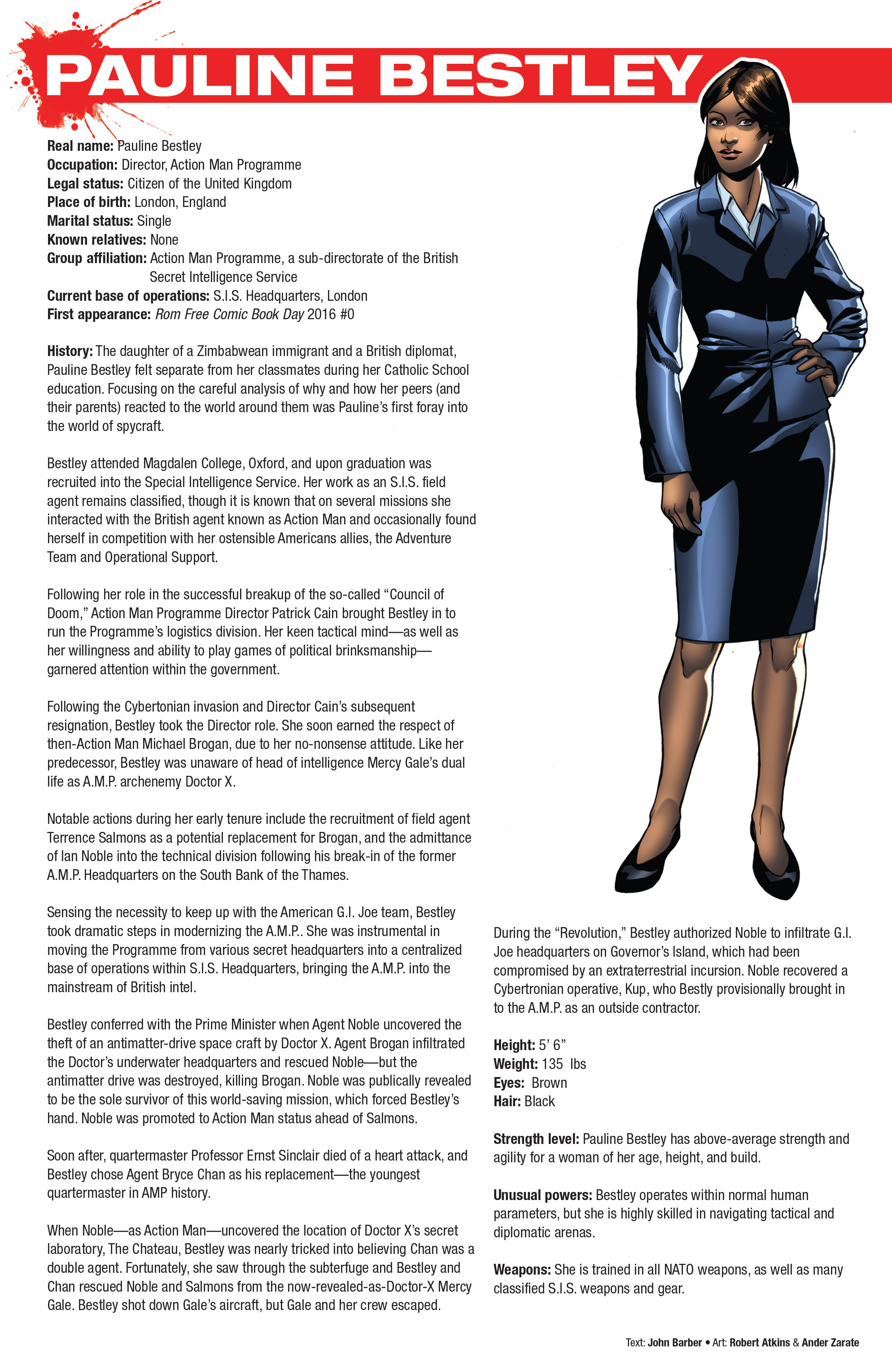 Read online Hasbro Heroes Sourcebook comic -  Issue #1 - 18