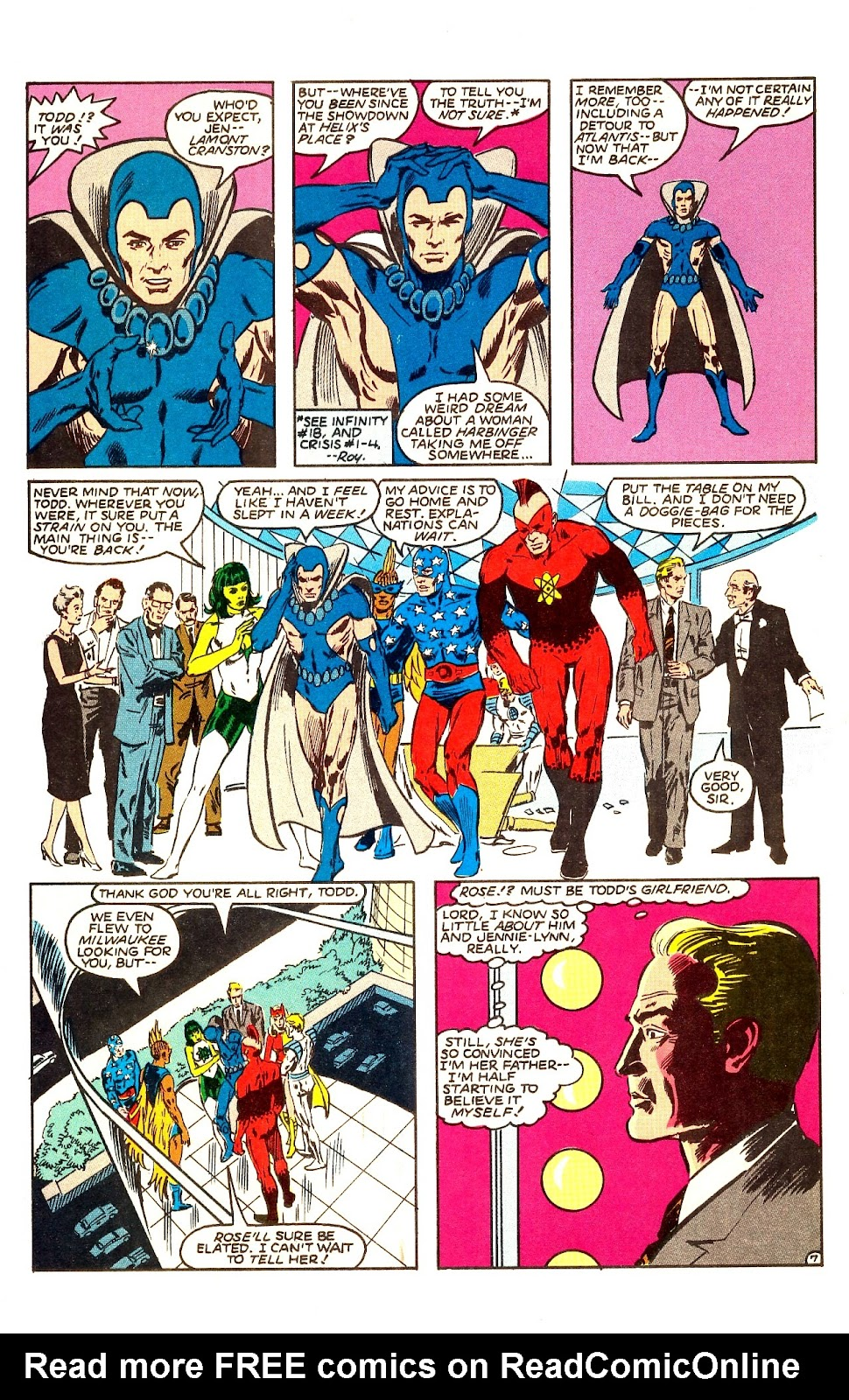 Infinity Inc. (1984) issue Annual 1 - Page 9