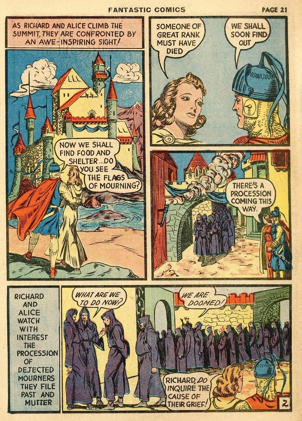 Read online Fantastic Comics comic -  Issue #10 - 22
