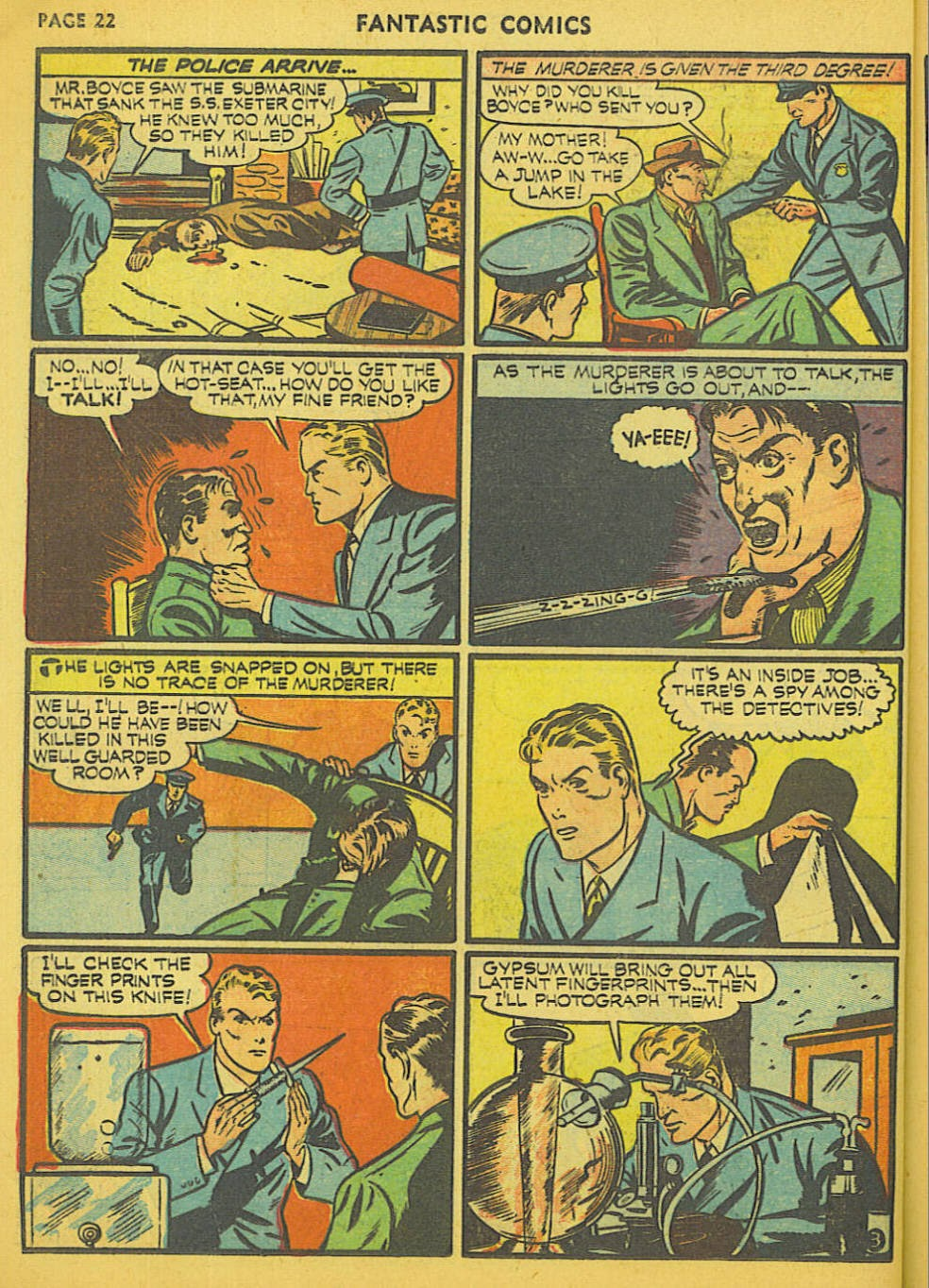 Read online Fantastic Comics comic -  Issue #15 - 16