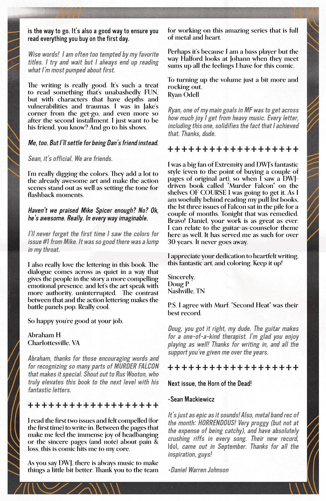 Read online Murder Falcon comic -  Issue #5 - 30