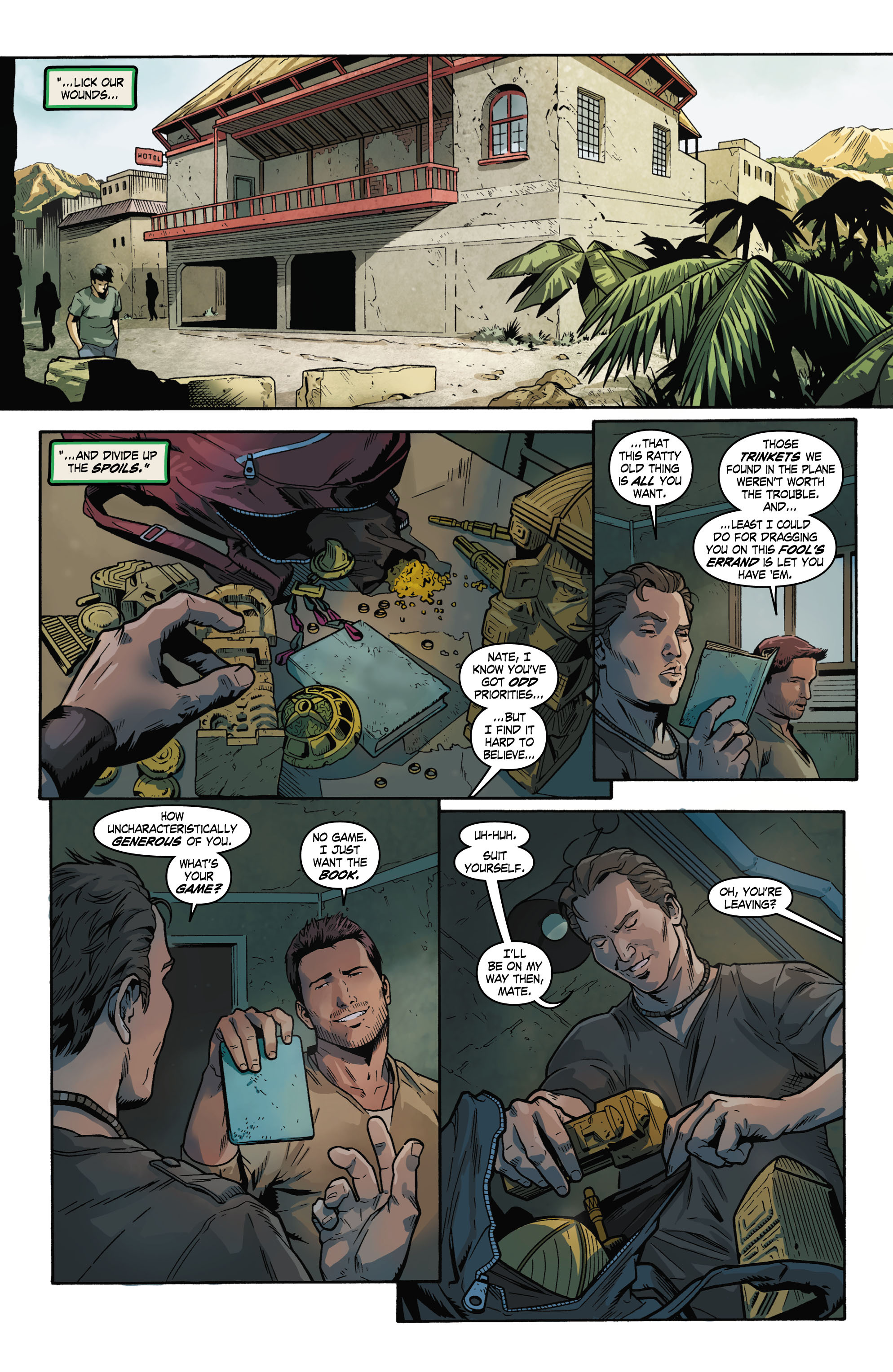 Read online Uncharted comic -  Issue #1 - 8
