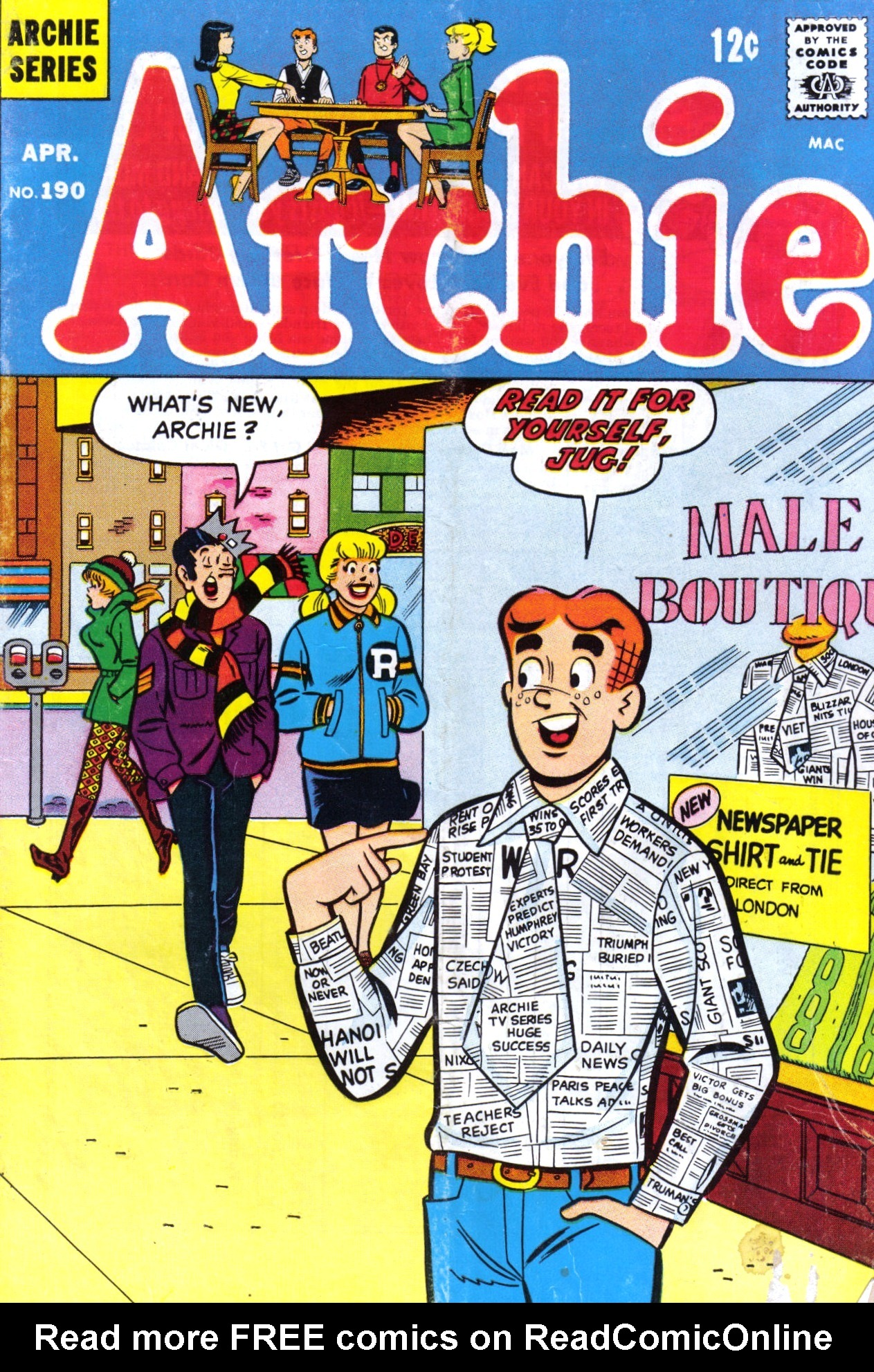 Read online Archie (1960) comic -  Issue #190 - 1