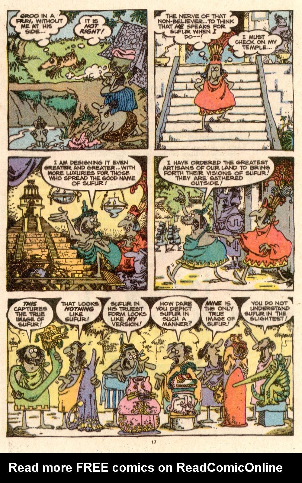 Read online Sergio Aragonés Groo the Wanderer comic -  Issue #58 - 17