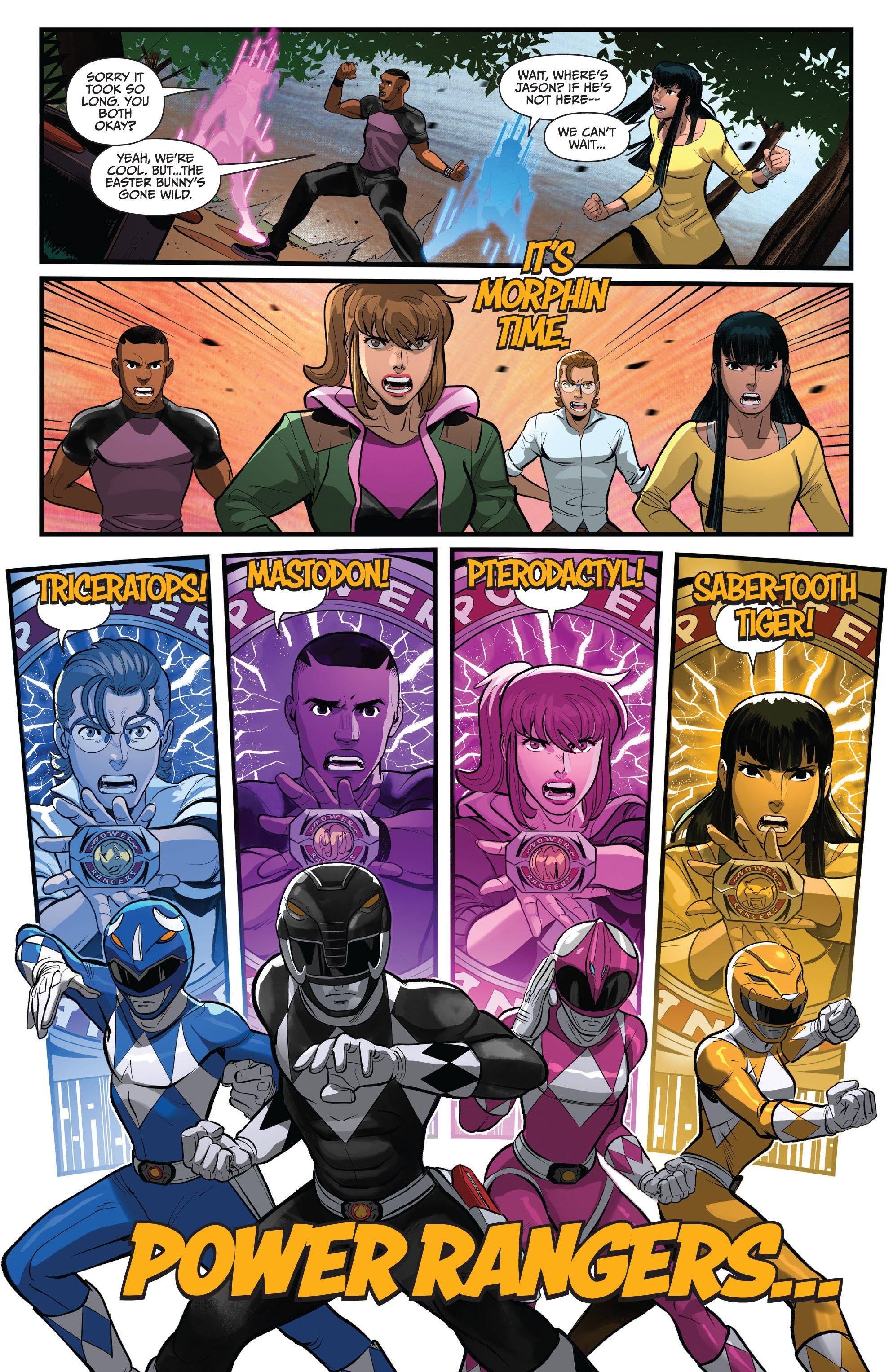 Read online Saban's Go Go Power Rangers comic -  Issue #22 - 19