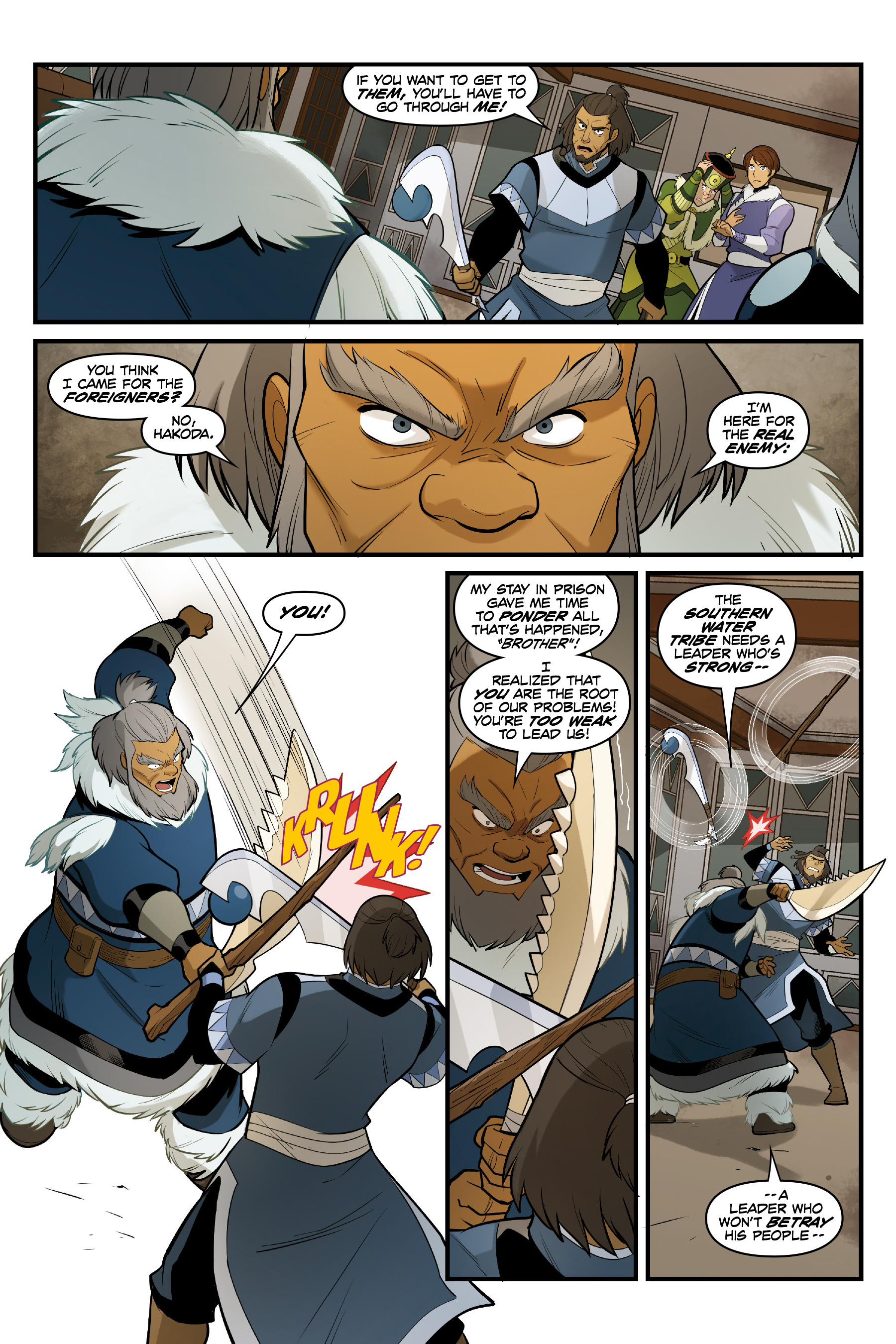 Read online Nickelodeon Avatar: The Last Airbender - North and South comic -  Issue #3 - 32