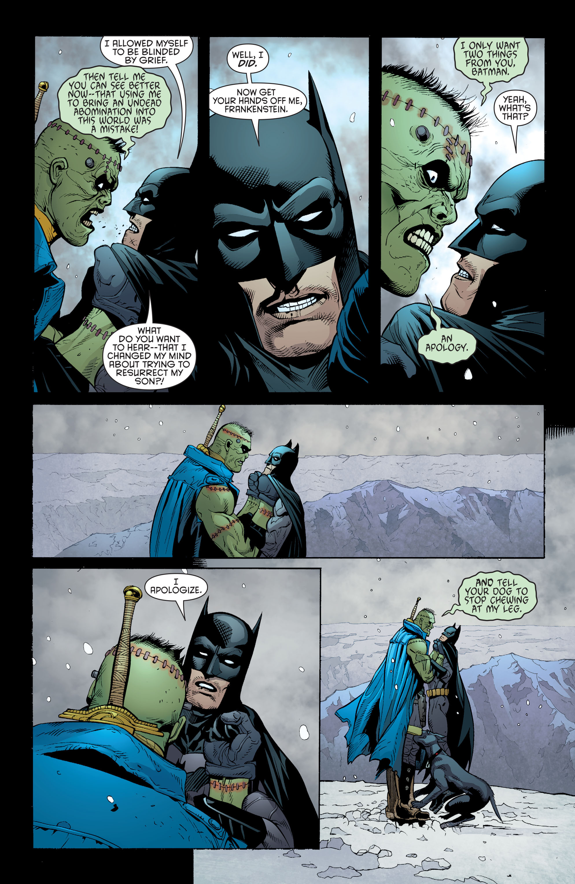 Read online Batman and Robin (2011) comic -  Issue #31 - Batman and Frankenstein - 8
