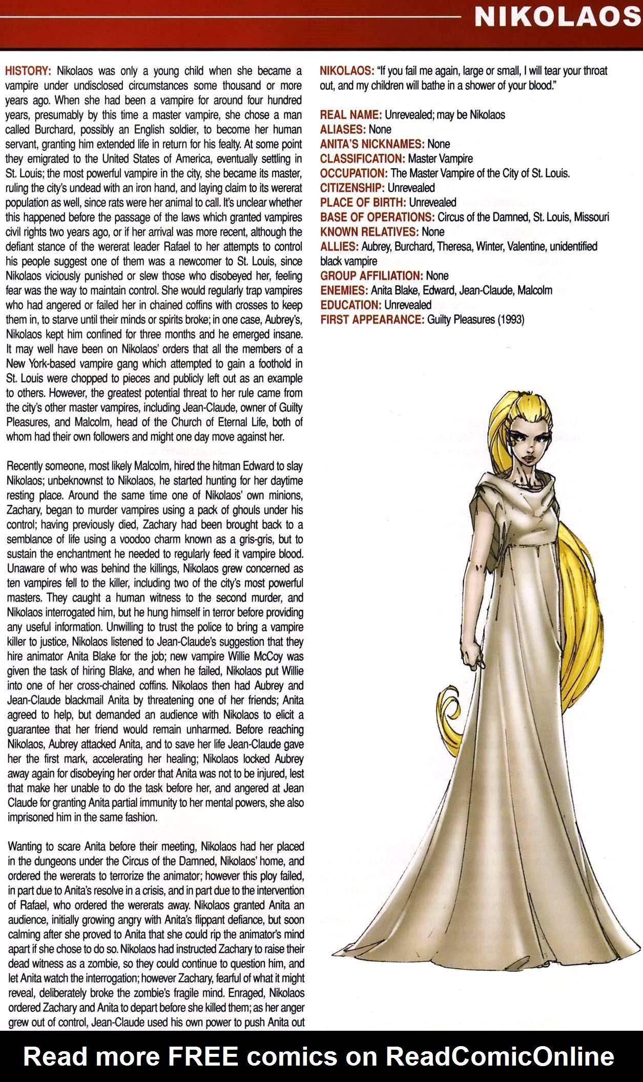 Read online Anita Blake, Vampire Hunter: Guilty Pleasures Handbook comic -  Issue #Anita Blake, Vampire Hunter: Guilty Pleasures Handbook Full - 23