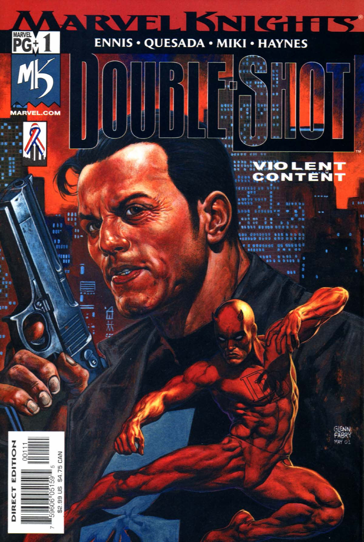 Read online Marvel Knights Double Shot comic -  Issue #1 - 1