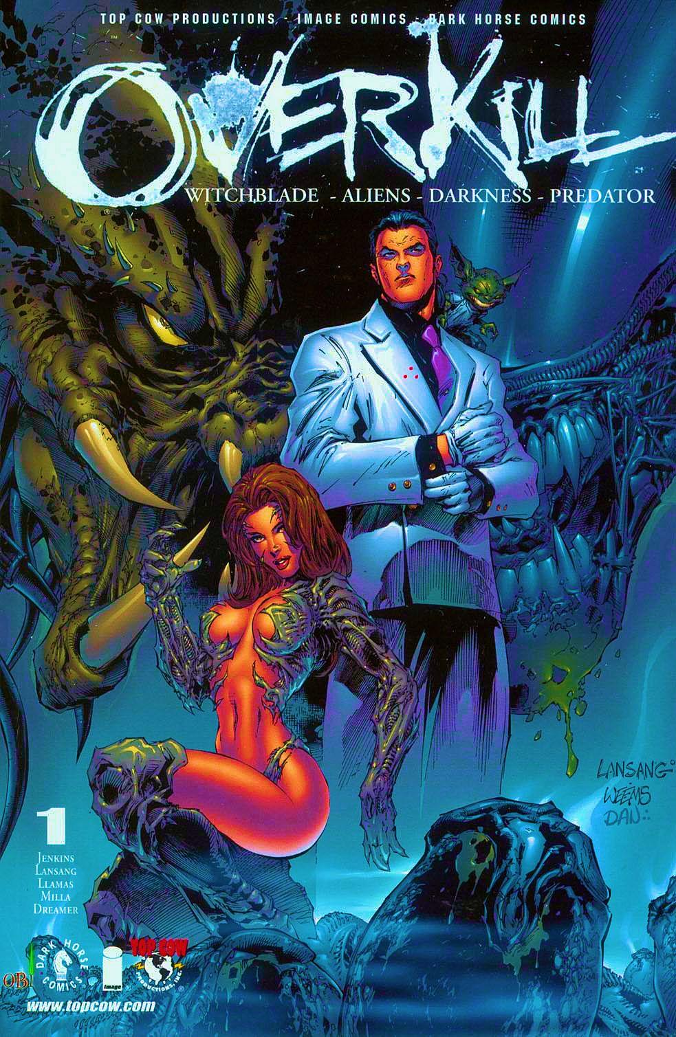 Read online Overkill: Witchblade/Aliens/Darkness/Predator comic -  Issue #1 - 1