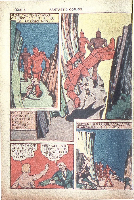 Read online Fantastic Comics comic -  Issue #4 - 10
