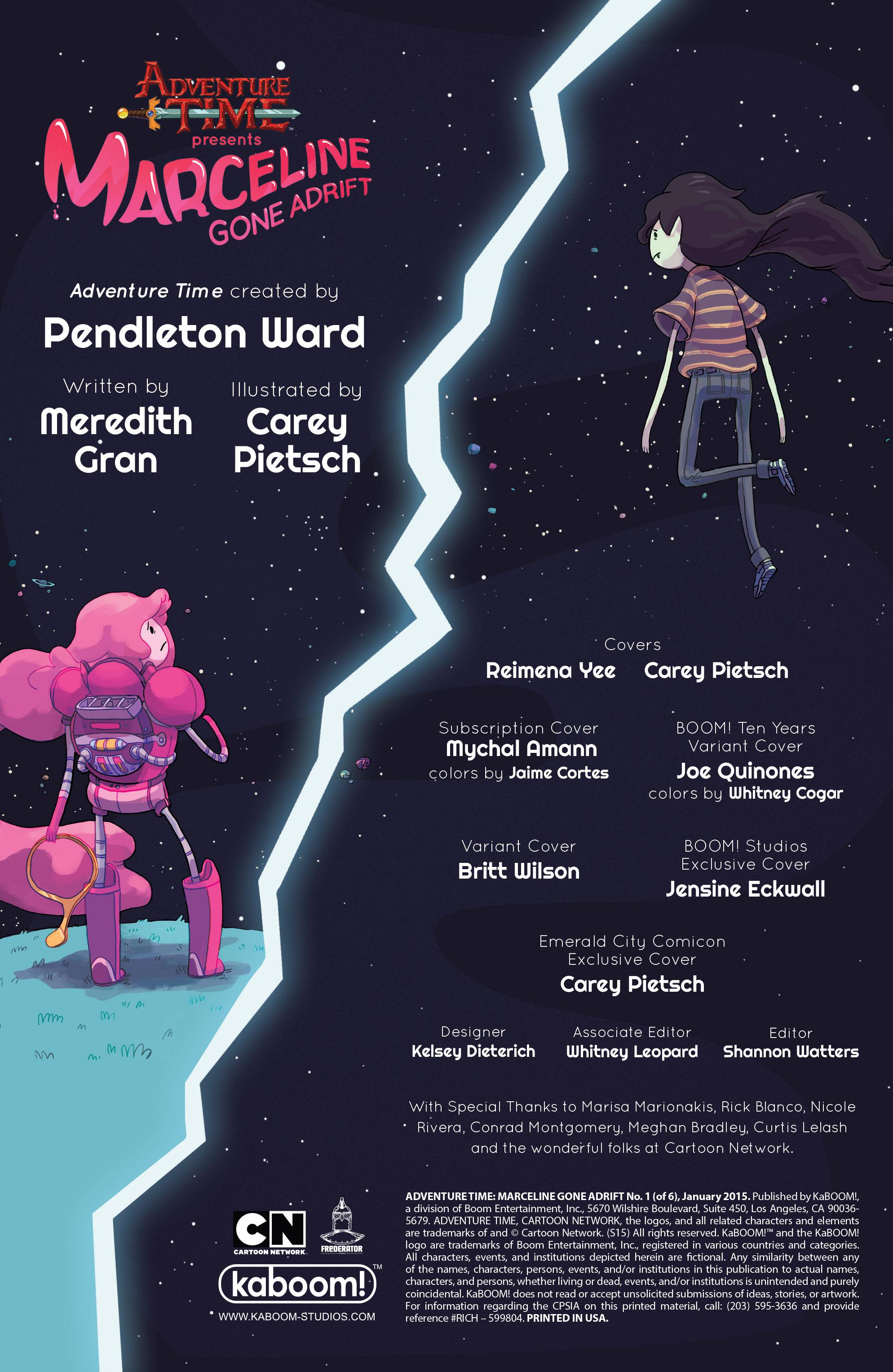 Read online Adventure Time: Marceline Gone Adrift comic -  Issue #1 - 2