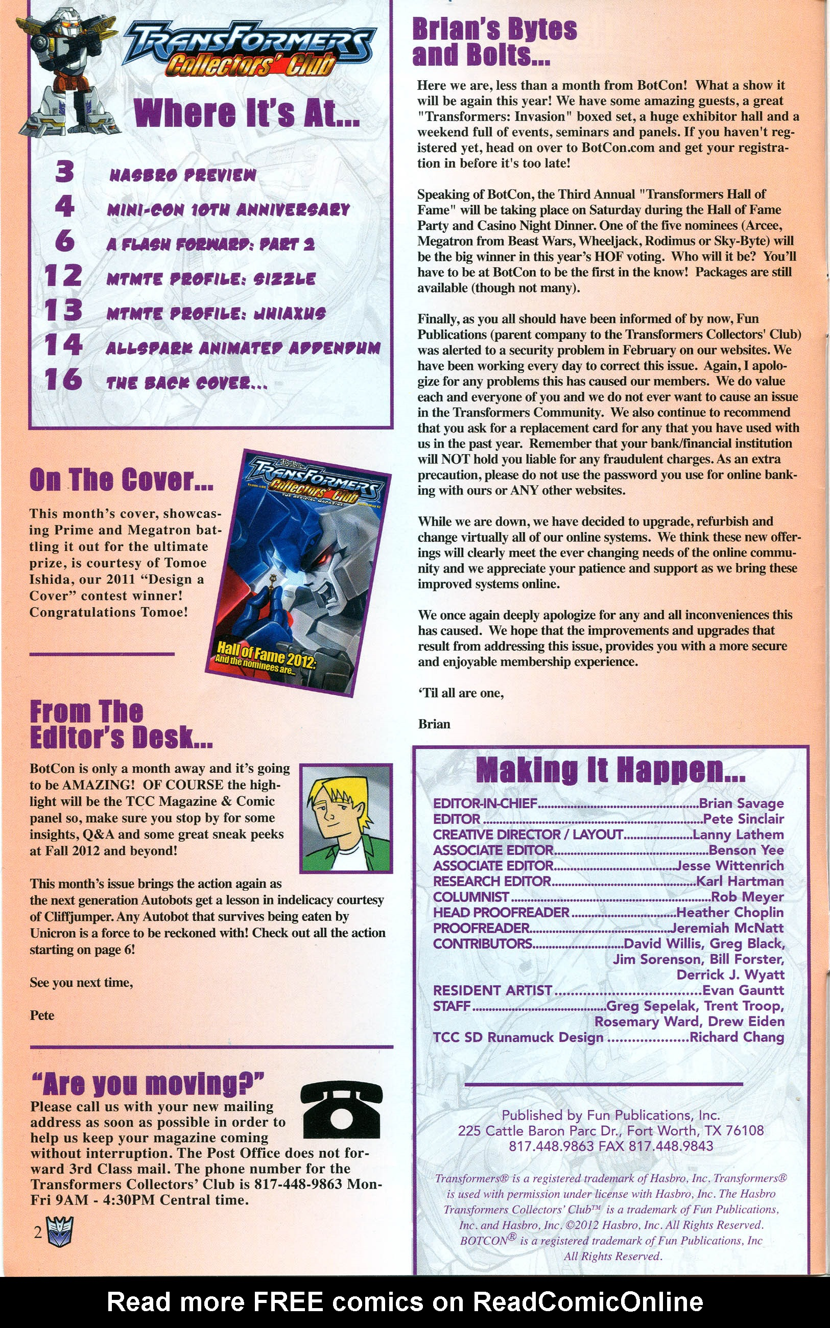 Read online Transformers: Collectors' Club comic -  Issue #44 - 2