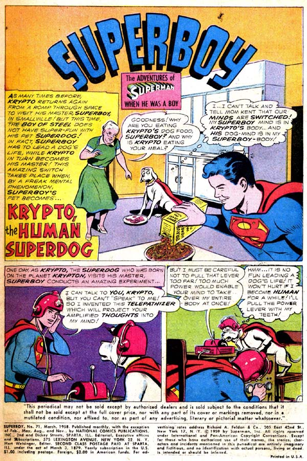 Superboy (1949) issue 71 - Page 2