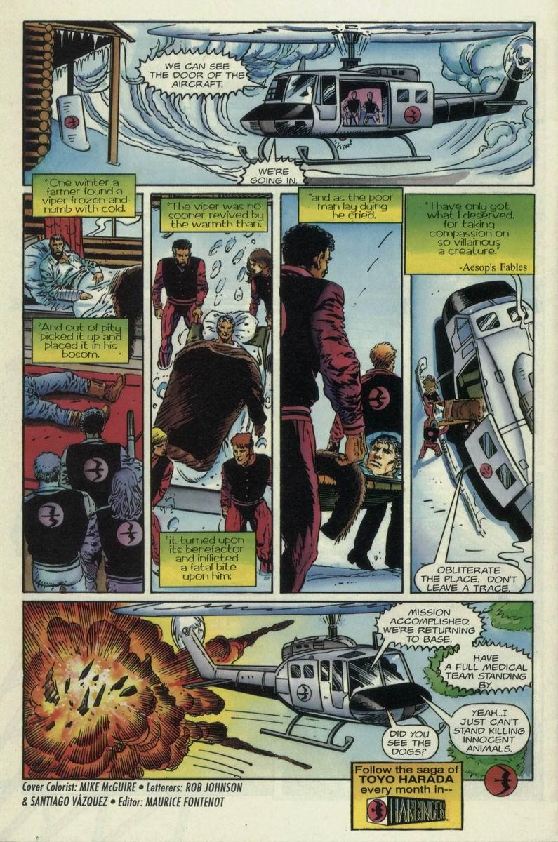 Read online Harbinger Files comic -  Issue #1 - 21