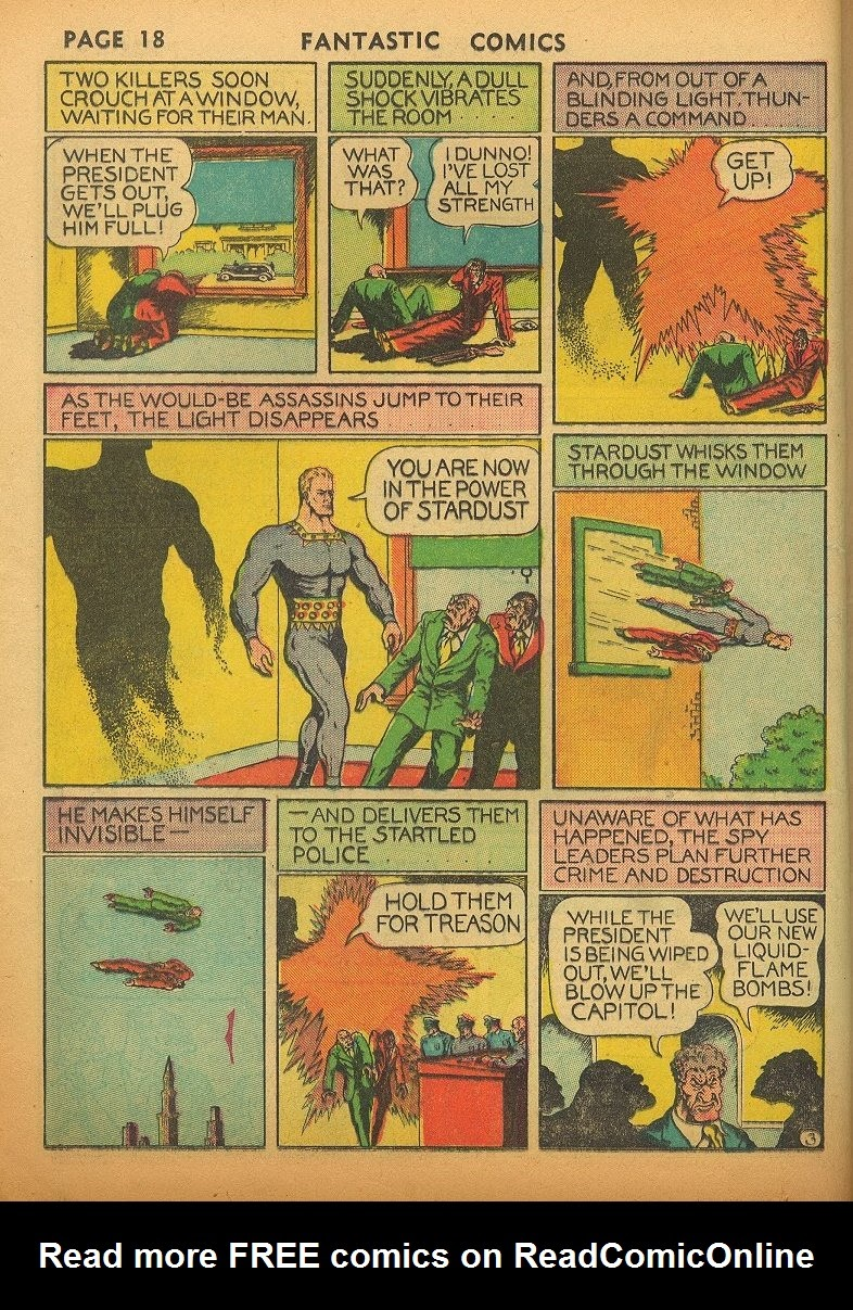 Read online Fantastic Comics comic -  Issue #1 - 21