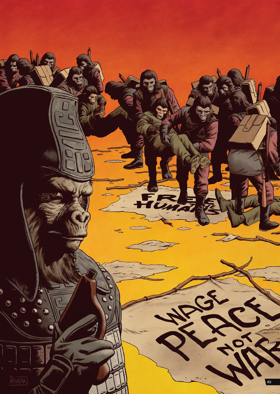 Read online Planet of the Apes Artist Tribute comic -  Issue # TPB - 85