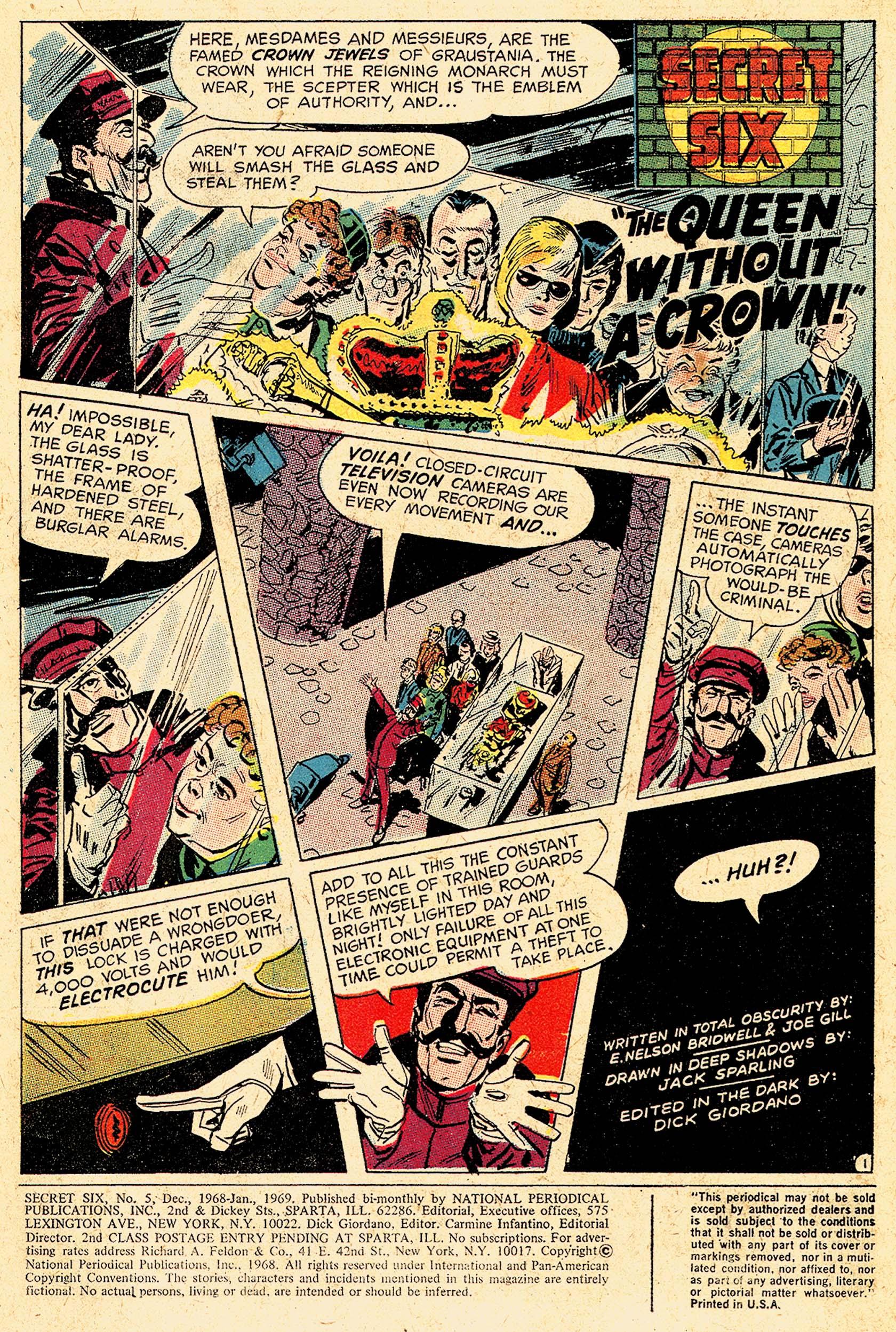 Read online Secret Six (1968) comic -  Issue #5 - 3