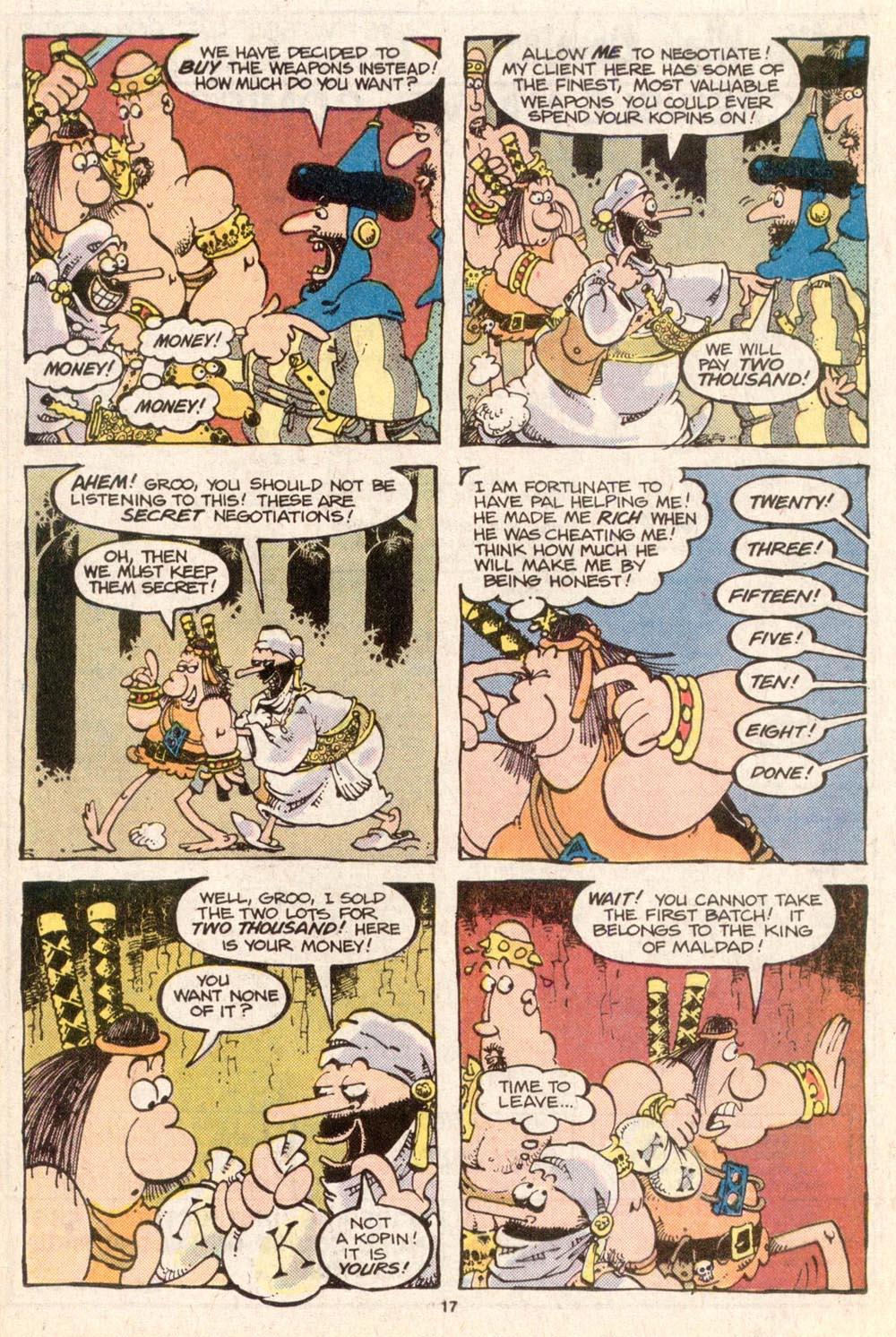 Read online Sergio Aragonés Groo the Wanderer comic -  Issue #31 - 16