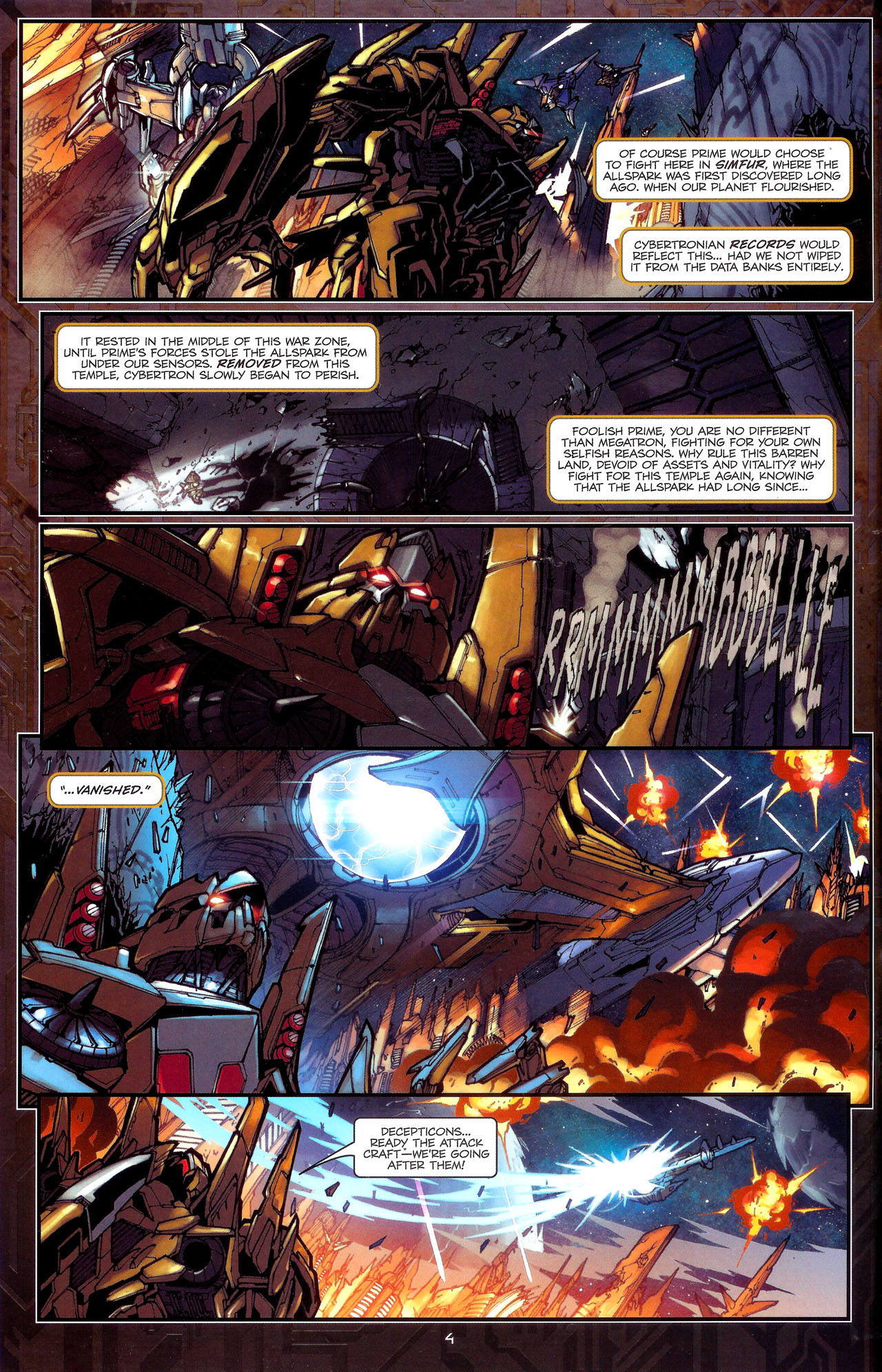 Read online Transformers: The Reign of Starscream comic -  Issue #1 - 7