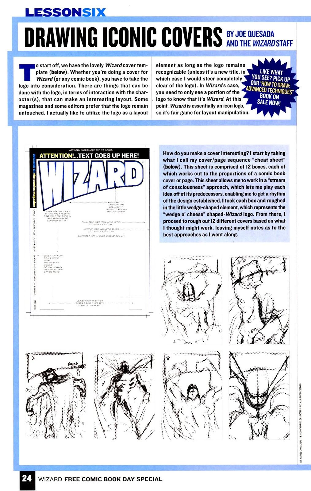 Read online Wizard How to Draw Sampler comic -  Issue # Full - 25