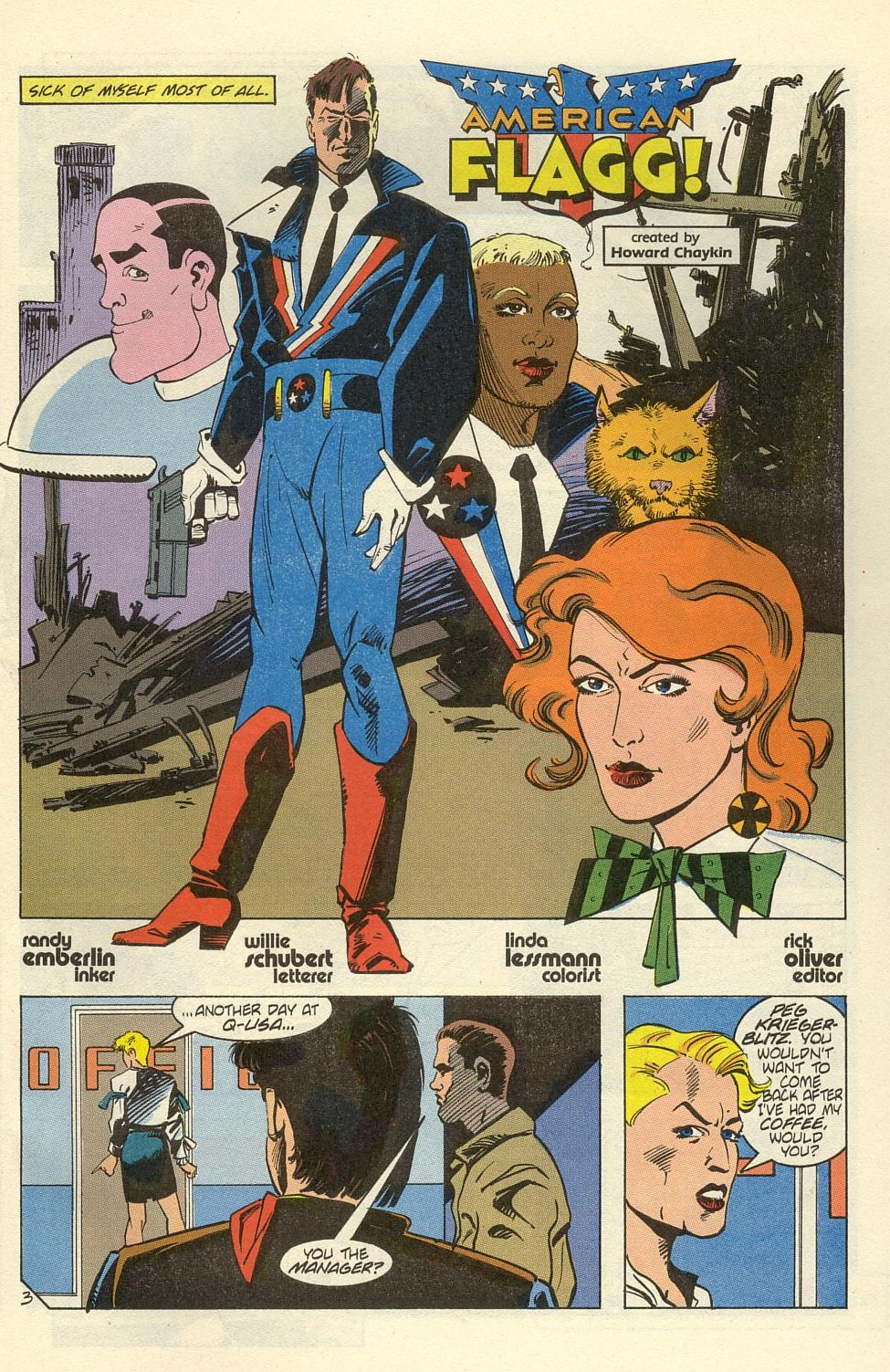 Read online American Flagg! comic -  Issue #39 - 5
