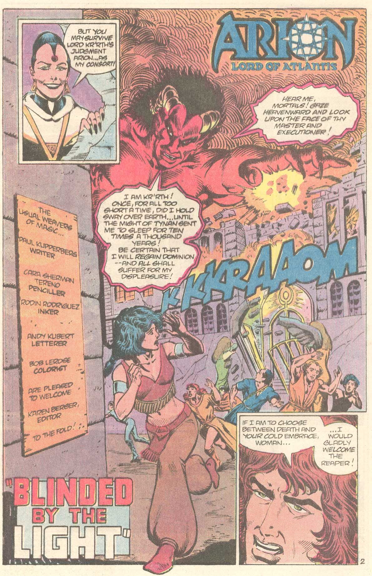 Read online Arion, Lord of Atlantis comic -  Issue #27 - 3