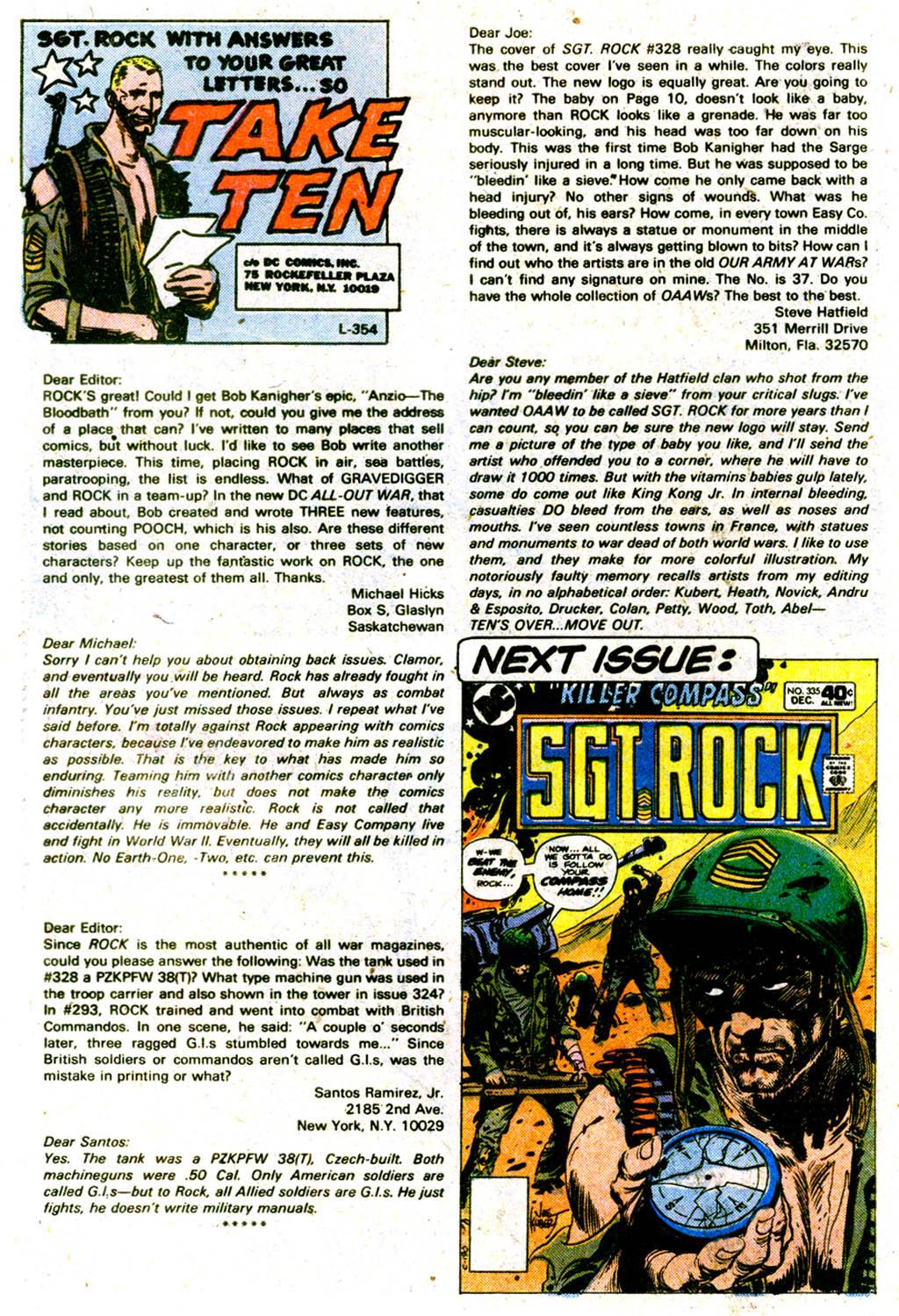Read online Sgt. Rock comic -  Issue #334 - 21