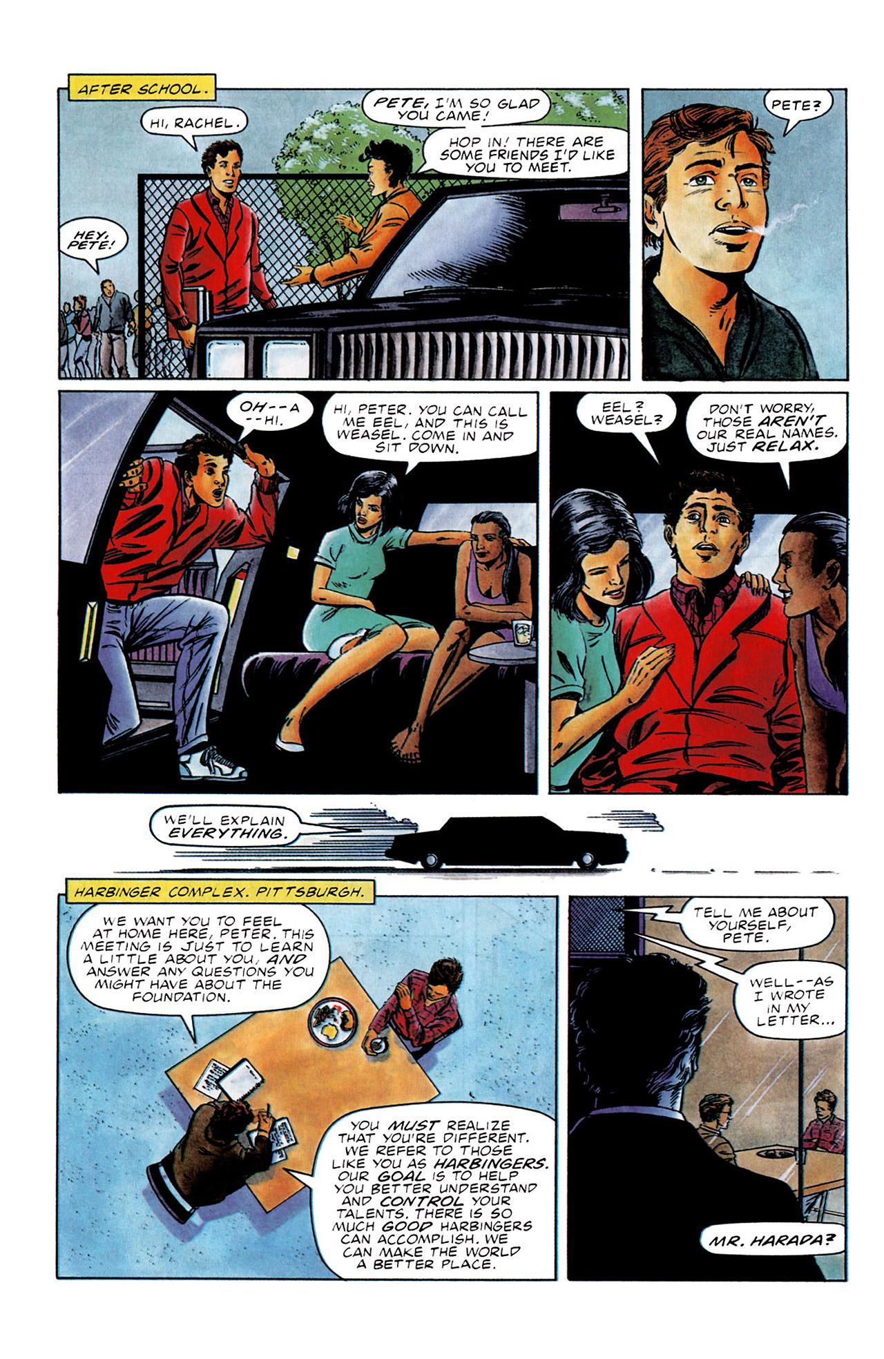 Read online Harbinger (1992) comic -  Issue #0 - 6