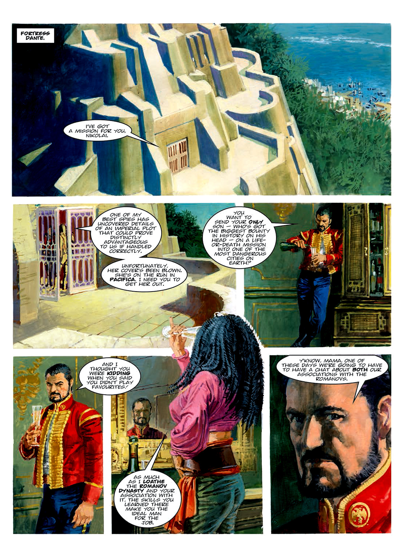 Read online Nikolai Dante comic -  Issue # TPB 6 - 153