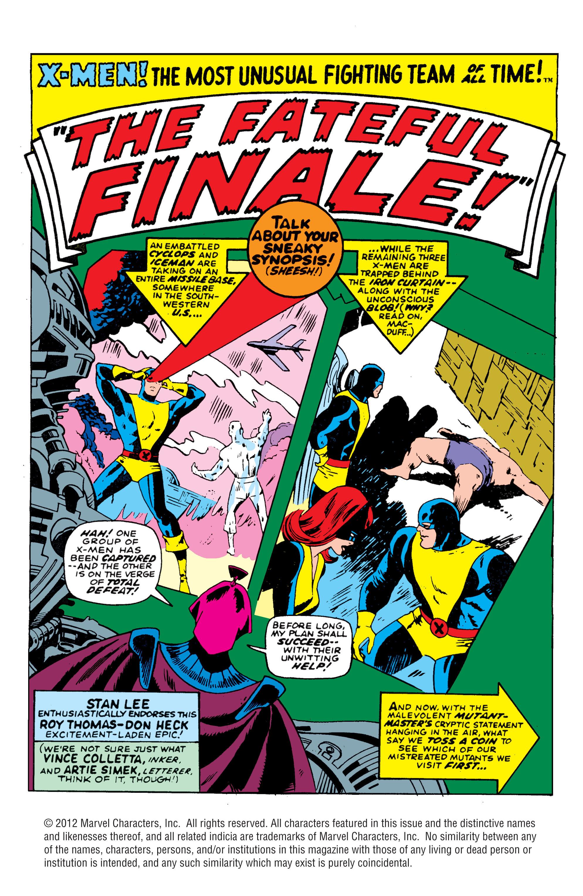 Uncanny X-Men (1963) 39 Page 1