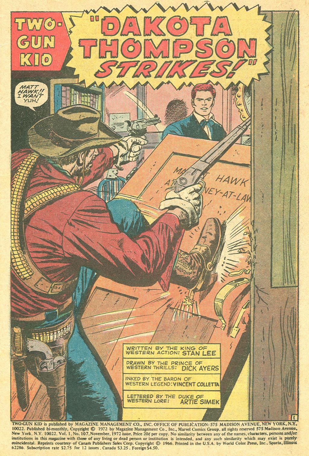 Read online Two-Gun Kid comic -  Issue #107 - 3