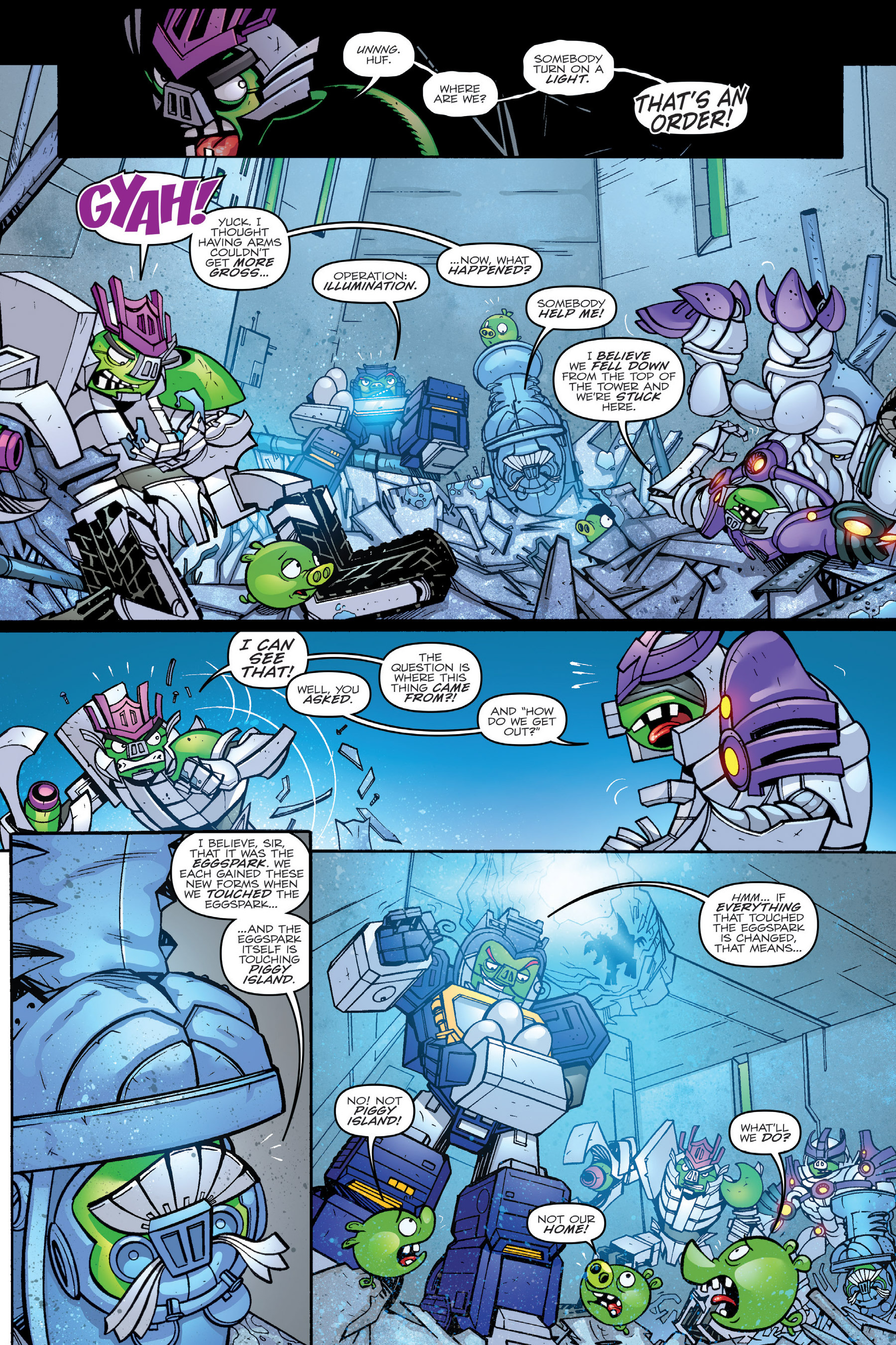 Read online Angry Birds Transformers: Age of Eggstinction comic -  Issue # Full - 38