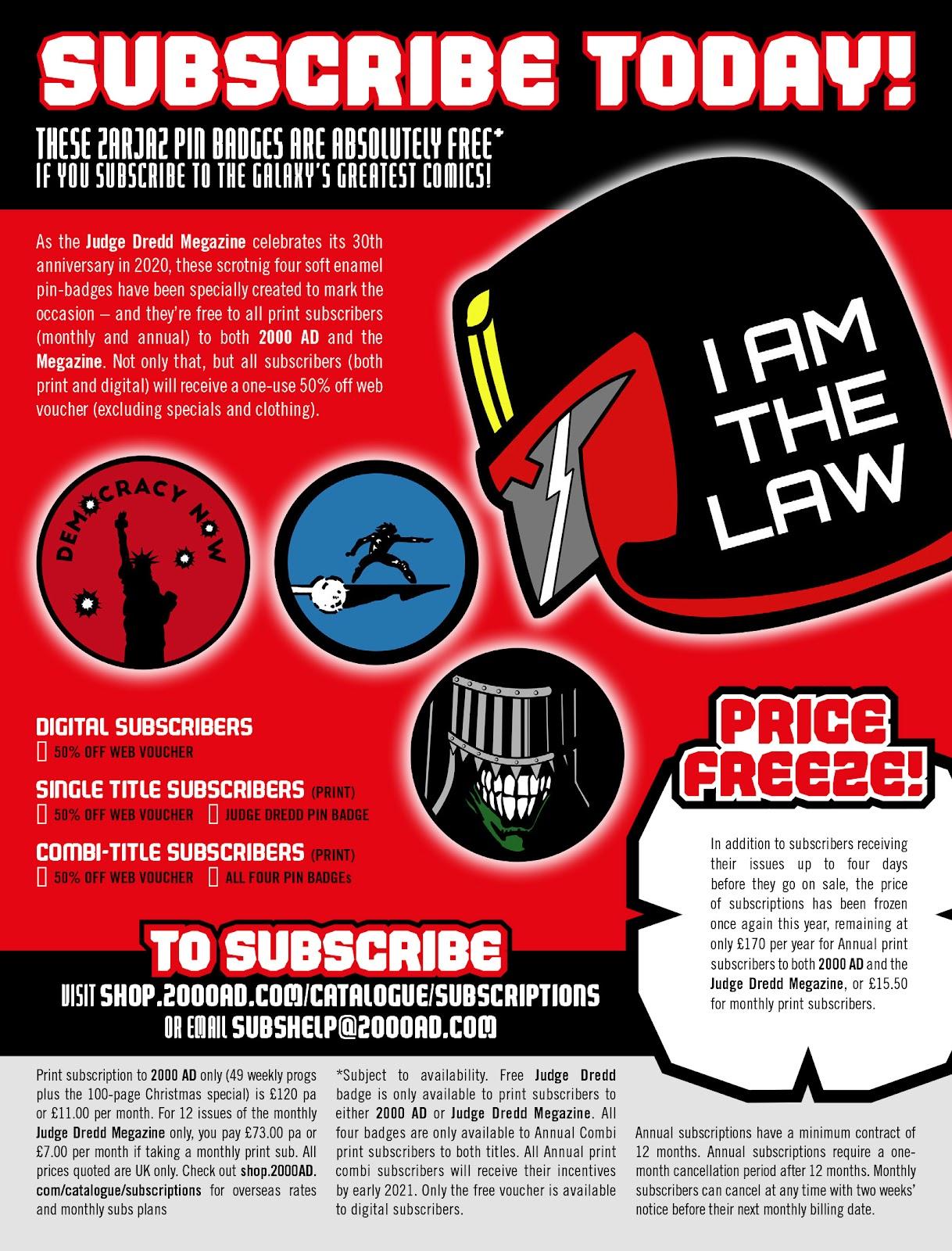 Judge Dredd Megazine (Vol. 5) issue 427 - Page 2