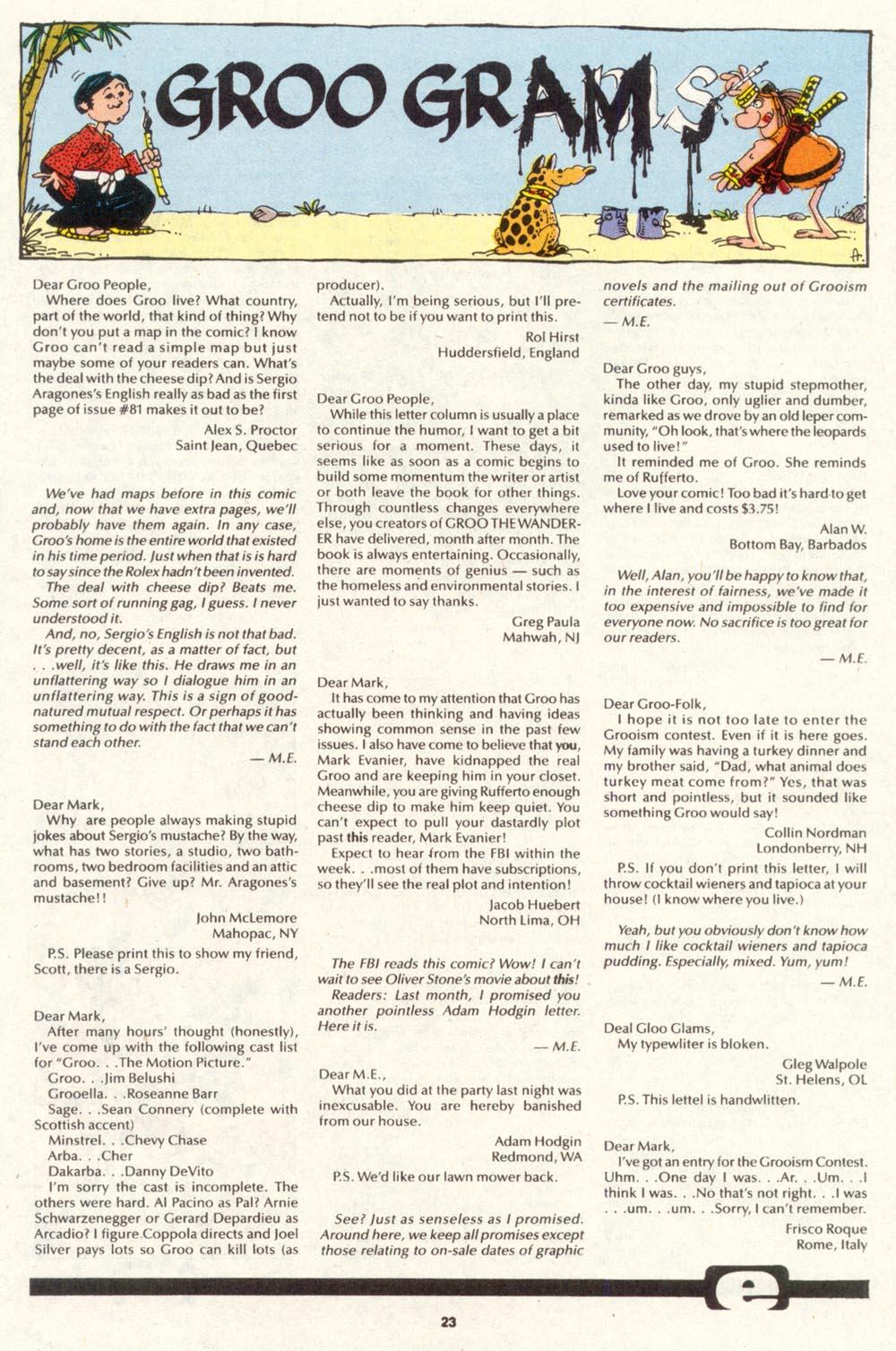 Read online Sergio Aragonés Groo the Wanderer comic -  Issue #89 - 24