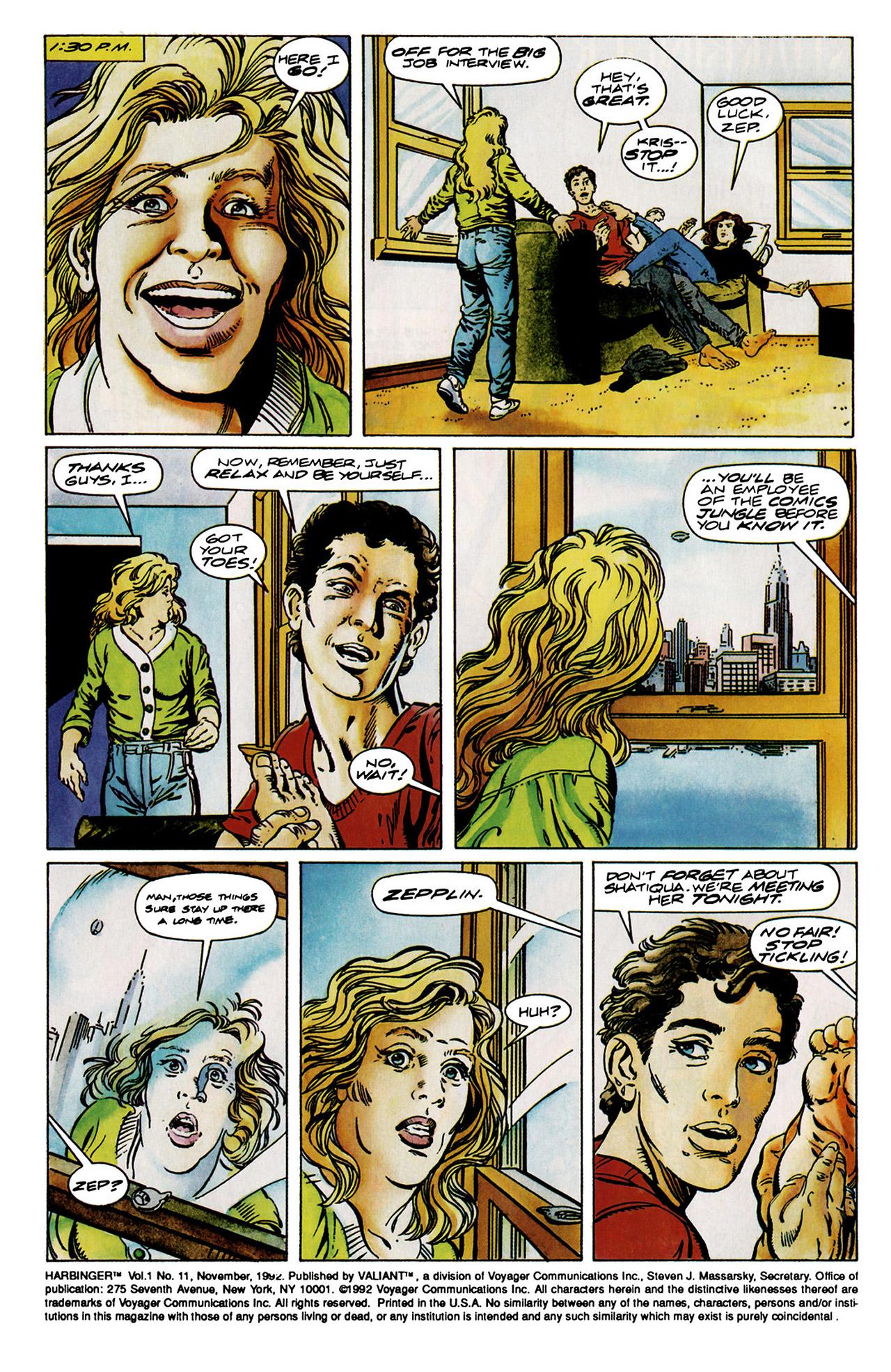 Read online Harbinger (1992) comic -  Issue #11 - 3