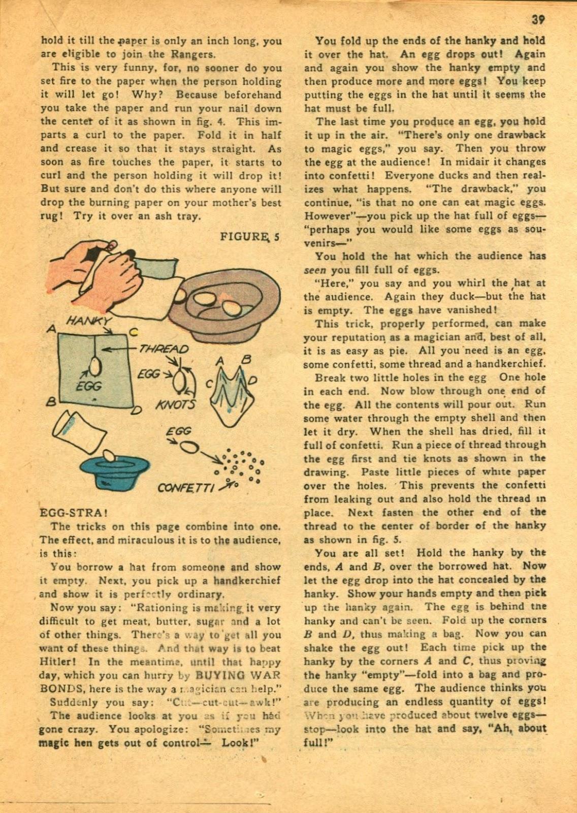 Read online Super-Magician Comics comic -  Issue #11 - 39