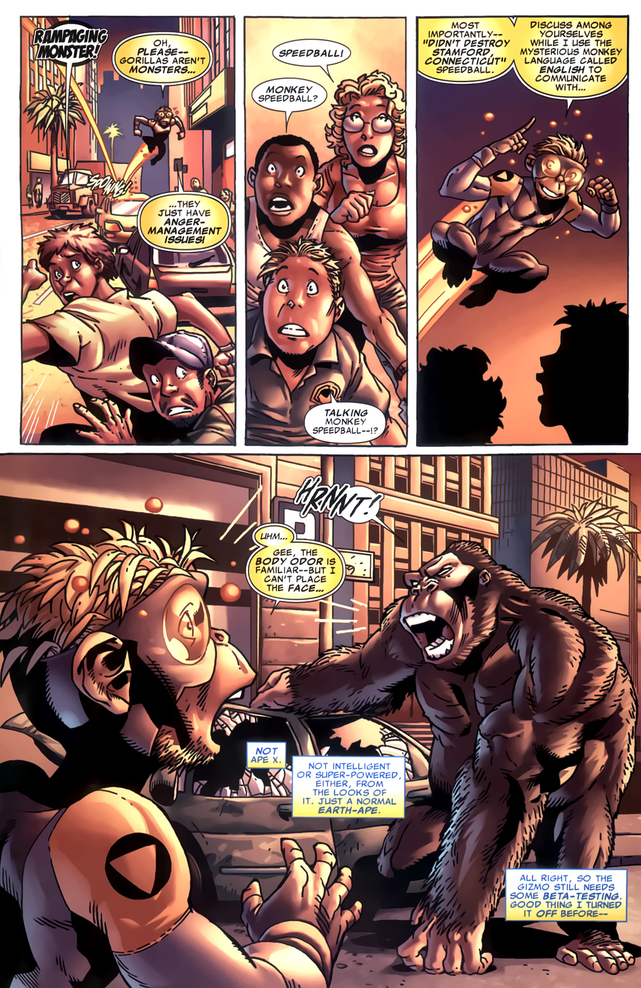 Read online Marvel Apes: Speedball Special comic -  Issue # Full - 18