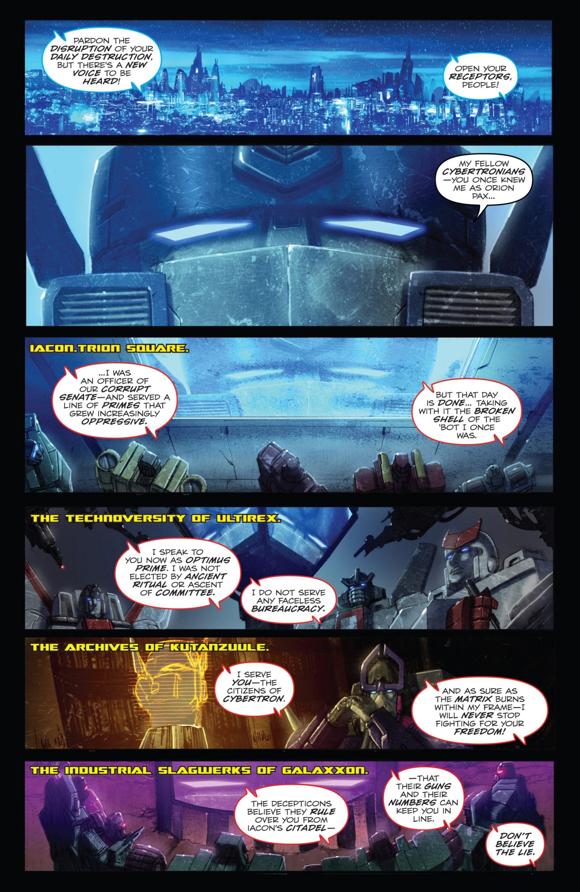 Read online Transformers: Autocracy comic -  Issue # Full - 101