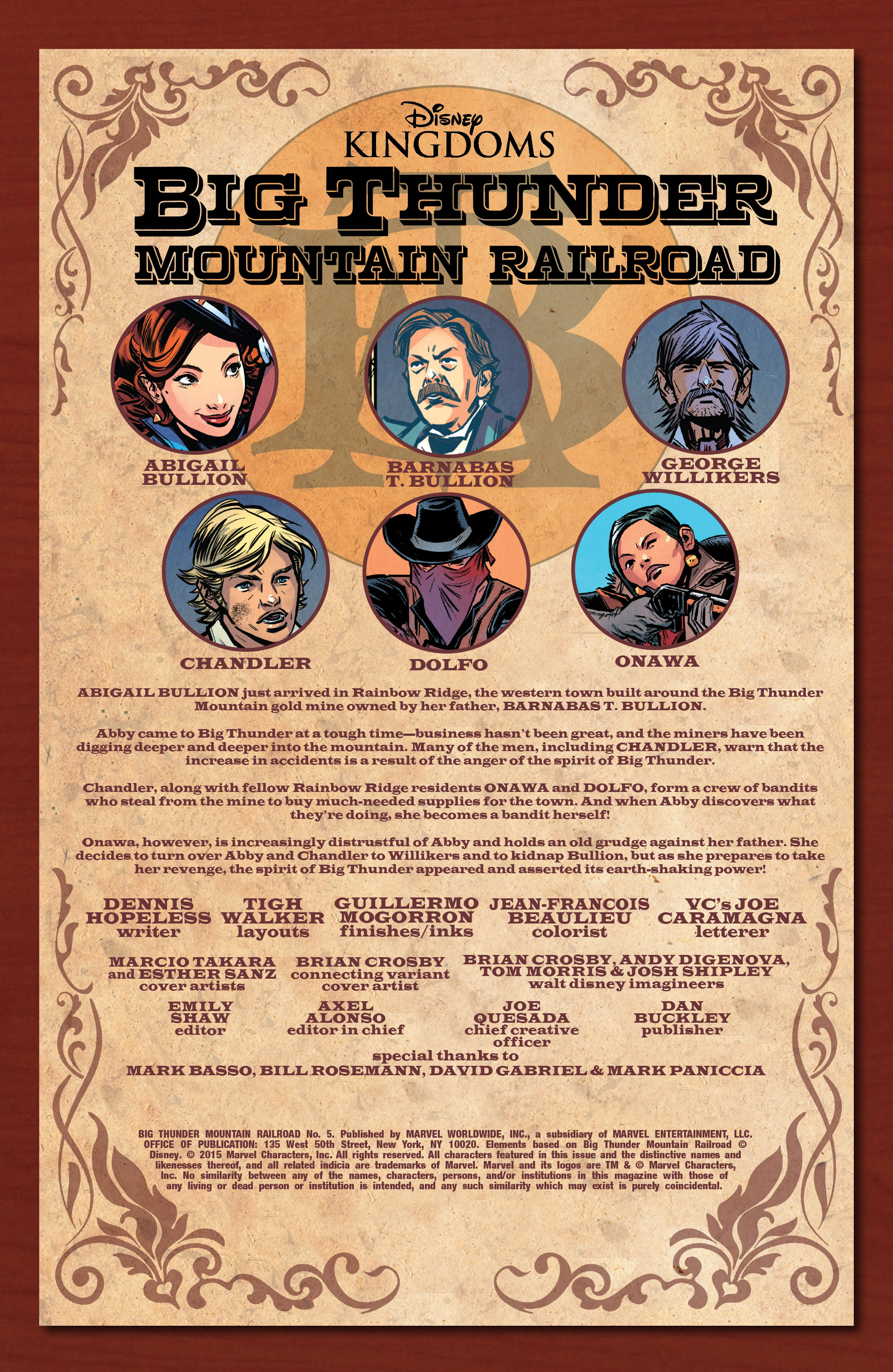 Read online Big Thunder Mountain Railroad comic -  Issue #5 - 2