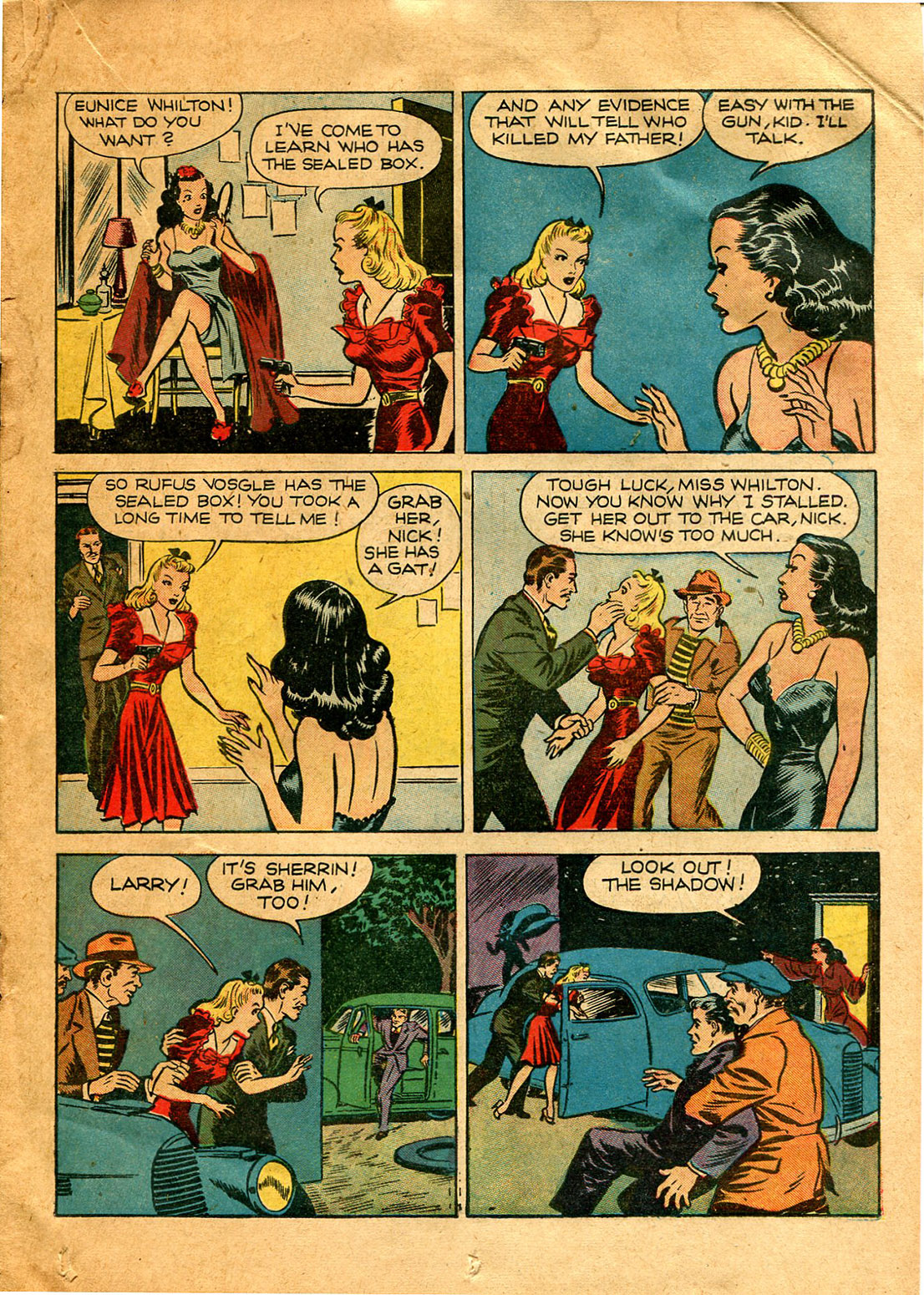 Read online Shadow Comics comic -  Issue #9 - 29