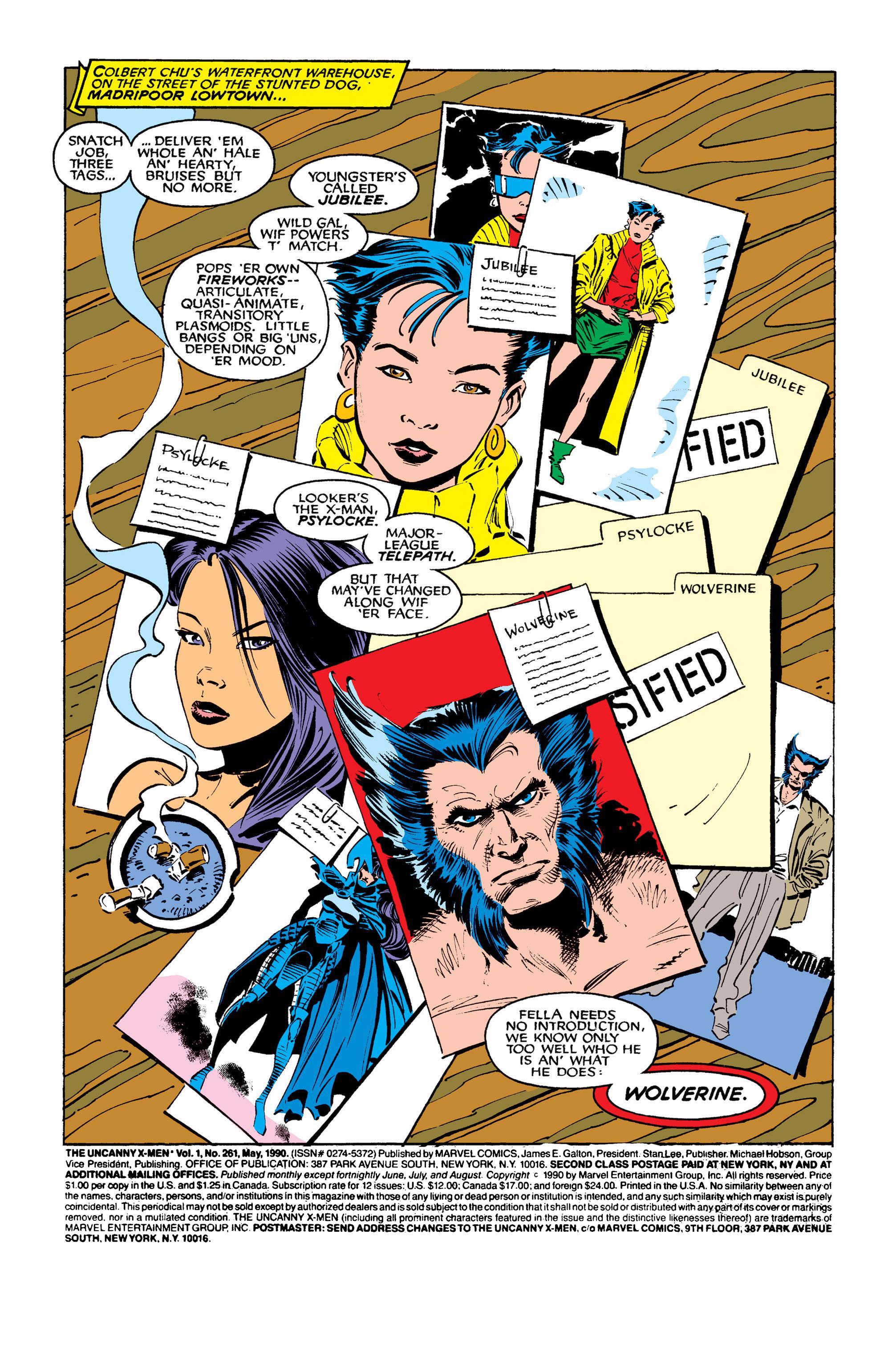 Read online Uncanny X-Men (1963) comic -  Issue #261 - 2