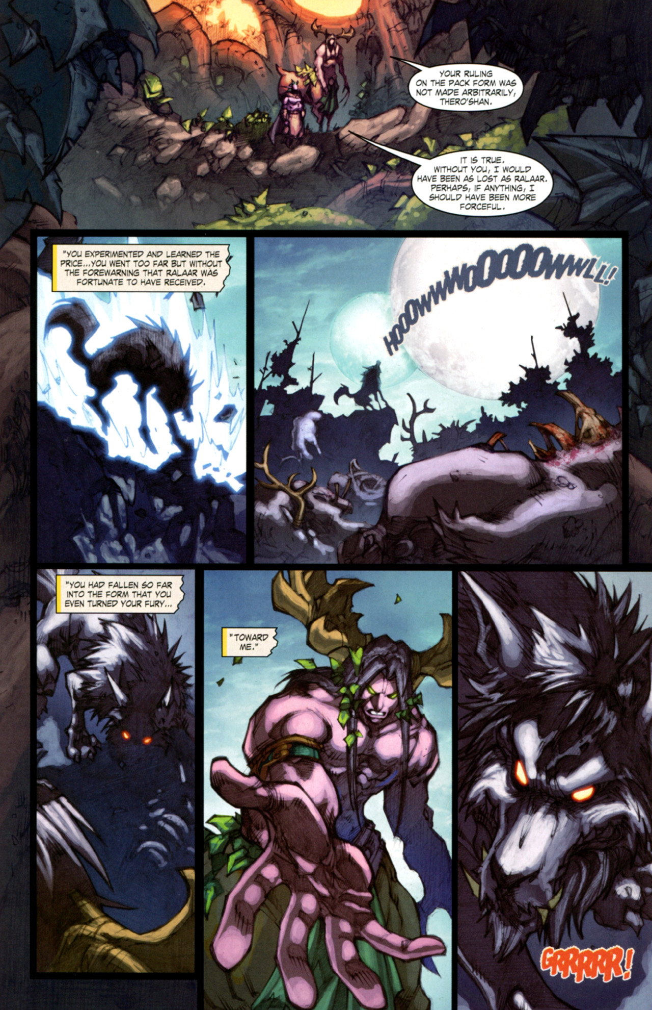 Read online World of Warcraft: Curse of the Worgen comic -  Issue #4 - 15