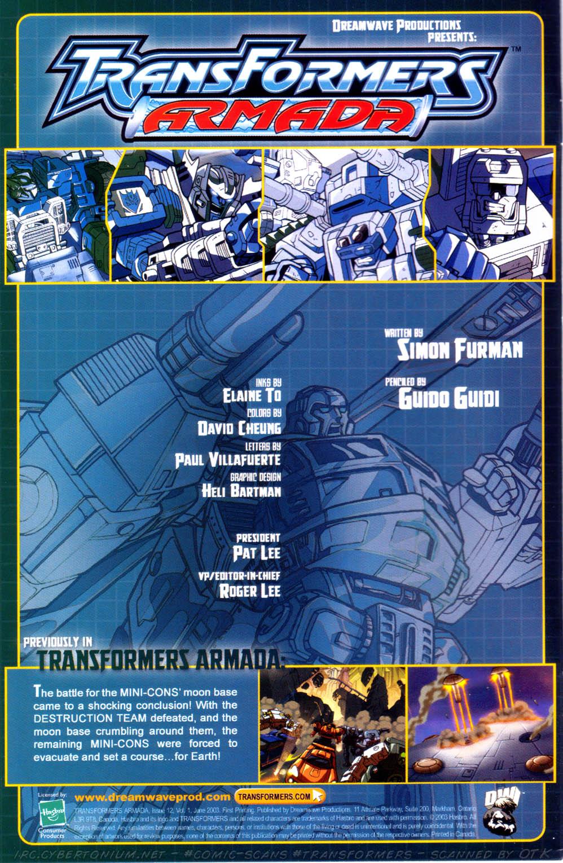 Read online Transformers Armada comic -  Issue #12 - 2