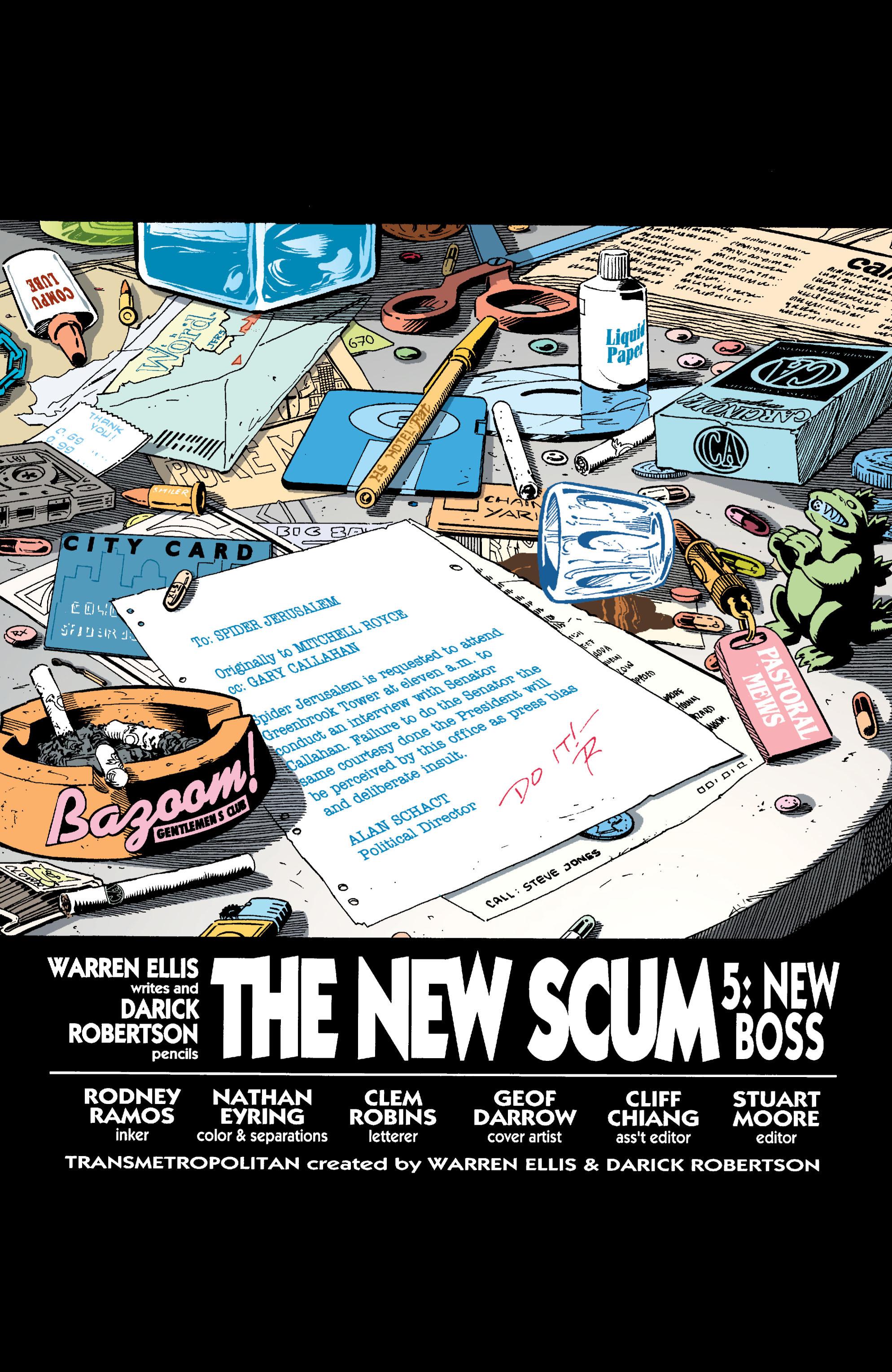 Read online Transmetropolitan comic -  Issue #23 - 2